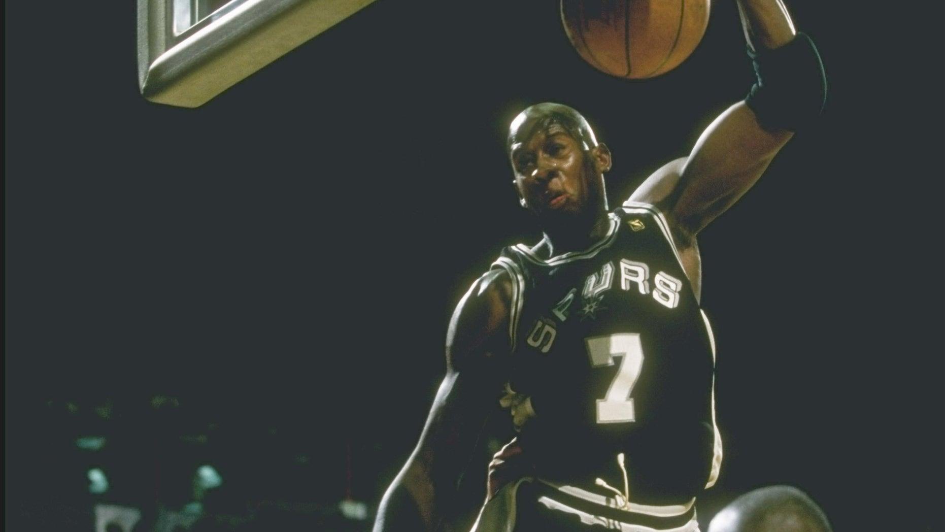 Forward Carl Herrera of the San Antonio Spurs in a 1997 file photo.