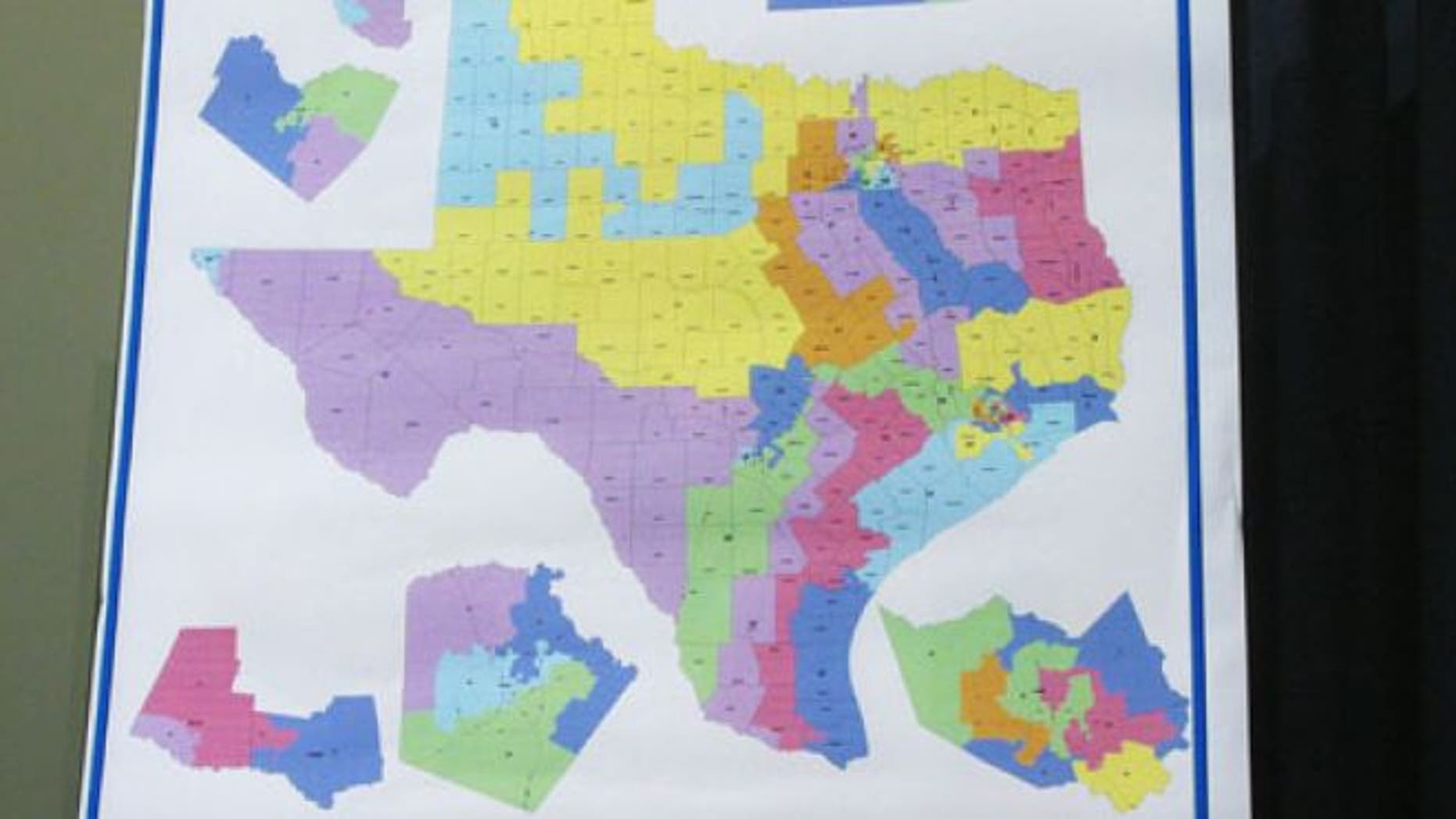 The district map, approved by the state's Republican-controlled Legislature last year, is meant to be use for the 2012 election only.