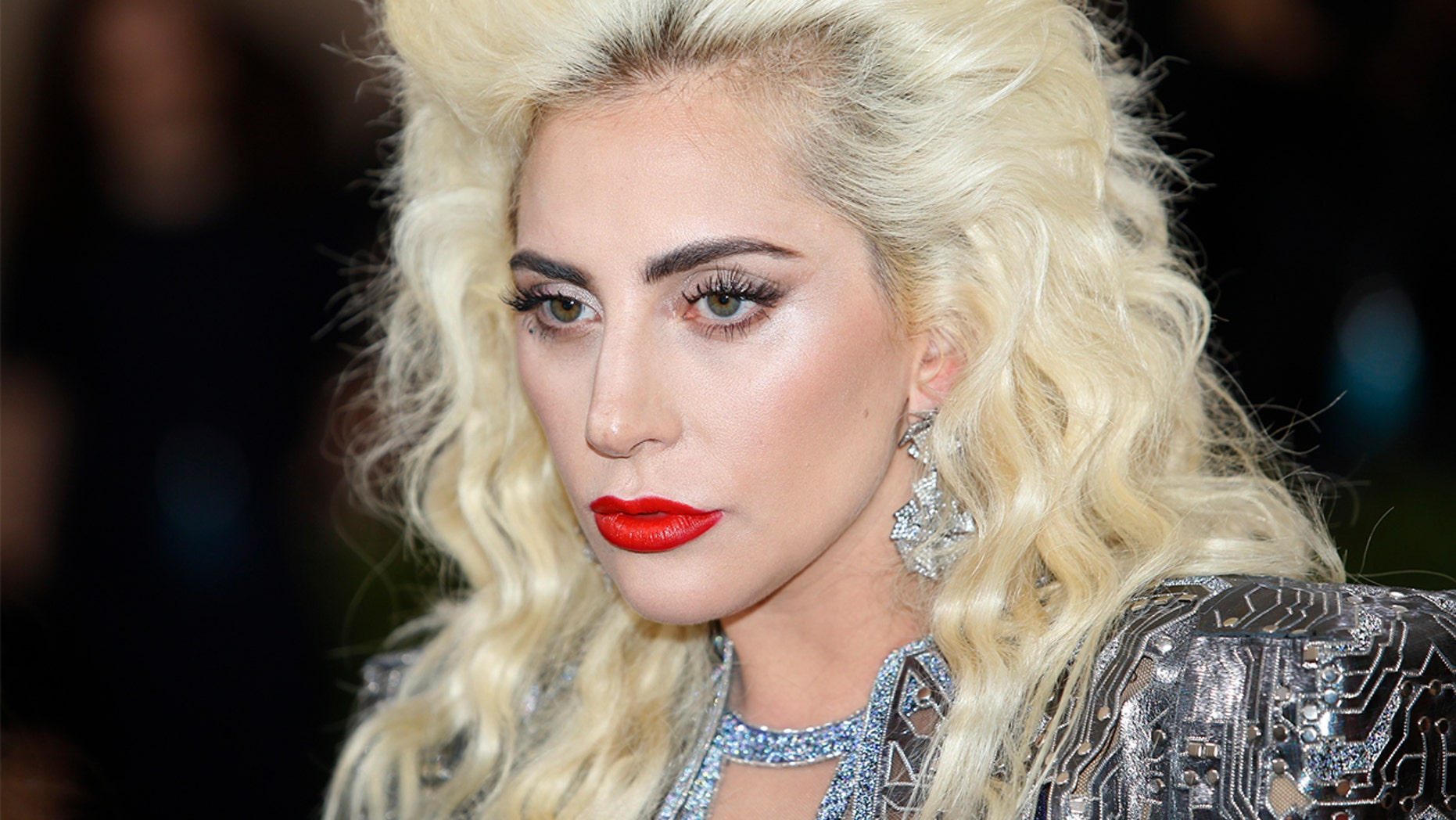 Lady Gaga doesn't look like this anymore...the singer now has short rainbow hair