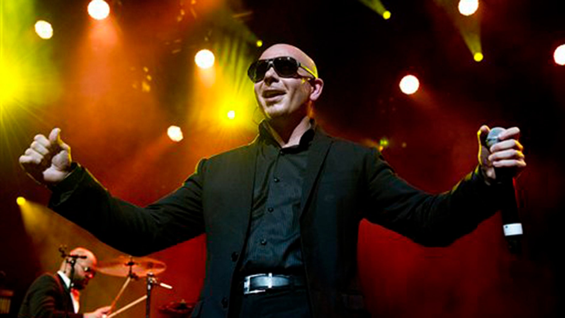 July 9, 2012: Cuban-American rapper Pitbull performs on the Stravinski Hall stage during the 46th Montreux Jazz Festival in Montreux.