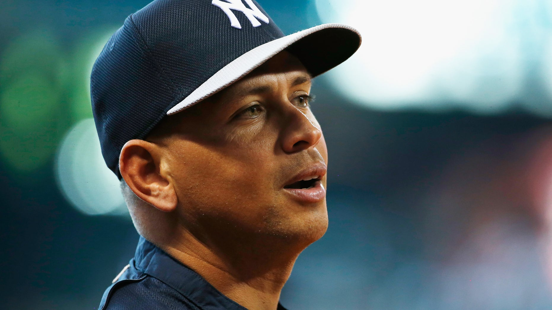 HOUSTON, TX - SEPTEMBER 27:  Alex Rodriguez #13 of the New York Yankees works out on the field before the game against the Houston Astros at Minute Maid Park on September 27, 2013 in Houston, Texas.  (Photo by Scott Halleran/Getty Images)