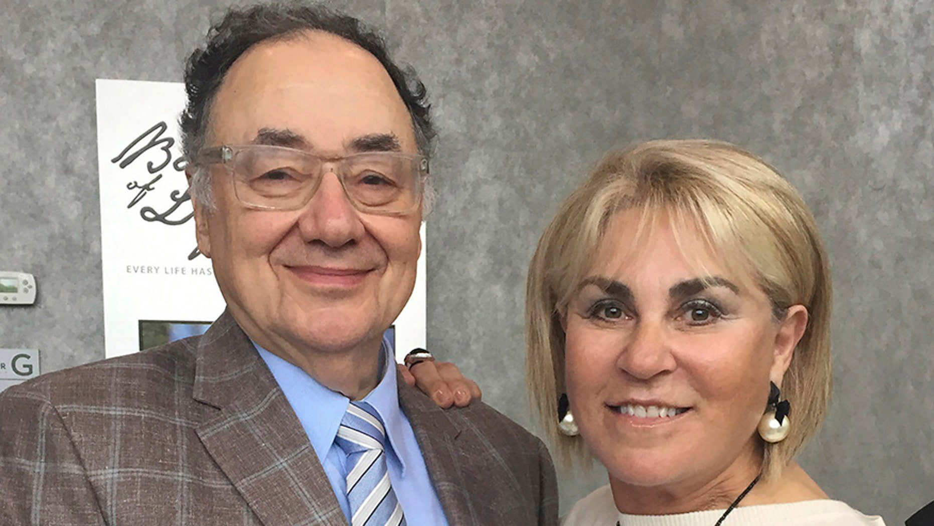 In this Oct. 15, 2017 photo provided by the United Jewish Appeal via Canadian Press, Barry and Honey Sherman pose for a photo in Toronto, Canada.