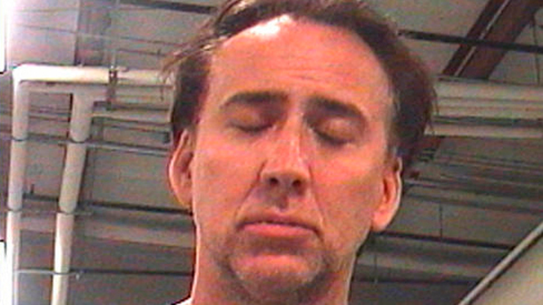 Actor Nicolas Cage's mugshot.