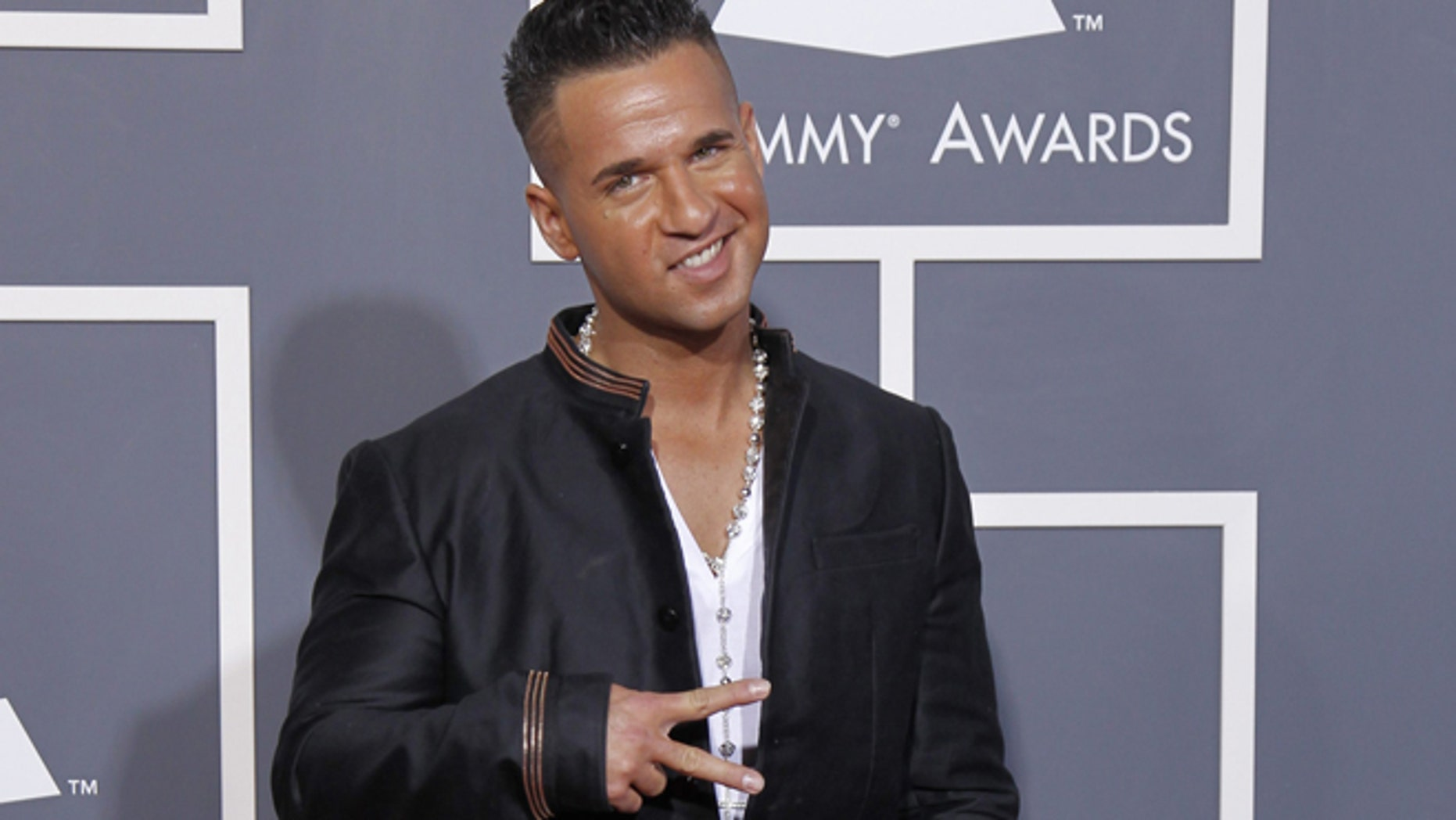 "TV personality Michael ""The Situation"" Sorrentino arrives at the 53rd annual Grammy Awards in Los Angeles, California February 13, 2011."