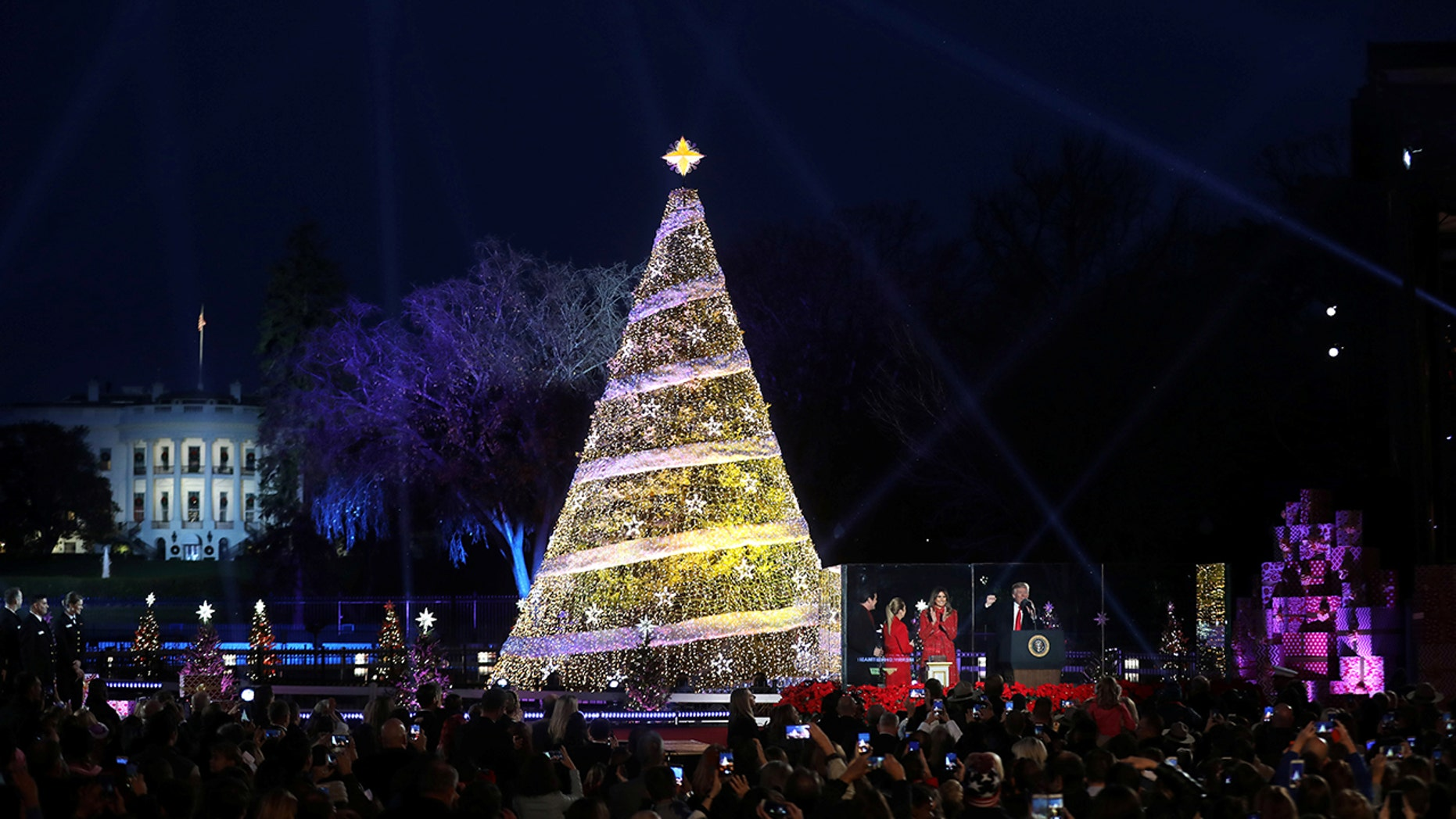 The Christmas tree lighting in Washington, D.C.