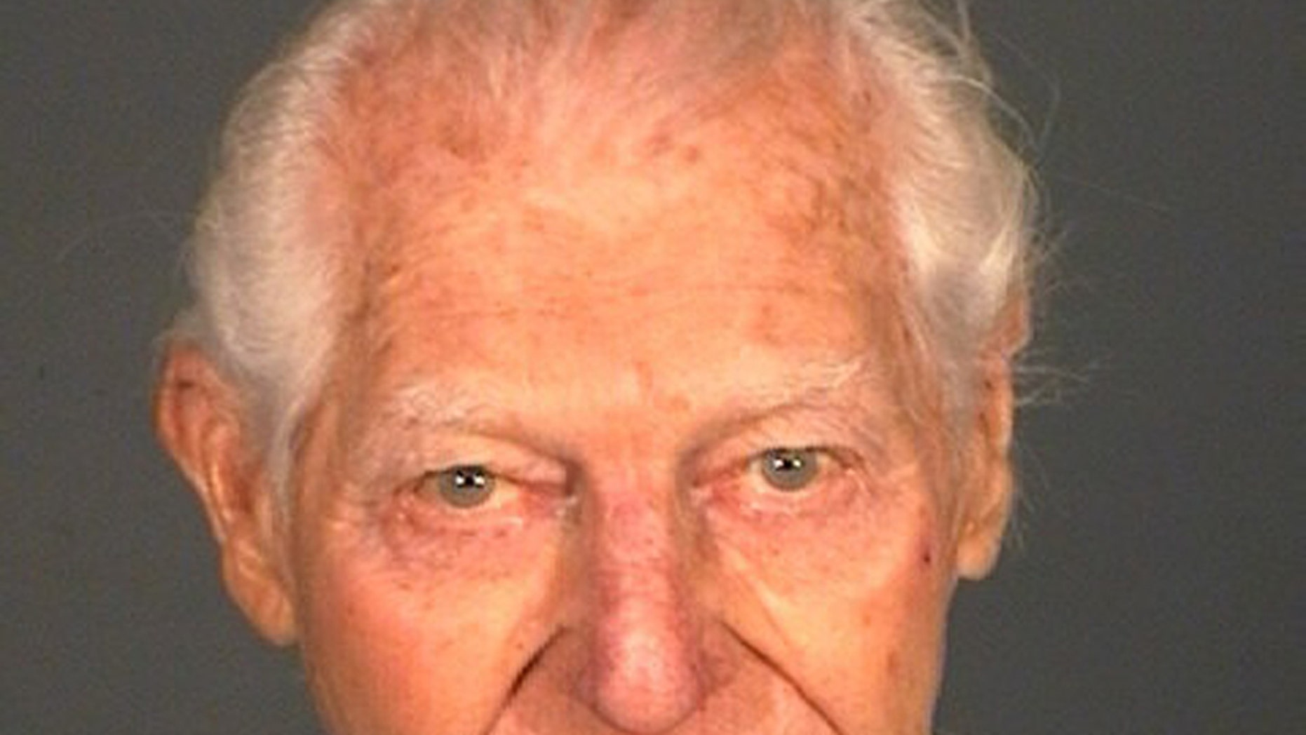 This photo provided by the Carson City Sheriff 's Departmentshows William Dresser. Dresser was arrested  Sunday Jan. 19, 2014, after firing one shot with small-caliber semi-automatic handgun that struck his wife in the chest at Carson Tahoe Regional Medical Center in Carson City. Dresser was placed on suicide watch at a local jail. (AP Photo/Carson City Sheriff Department)