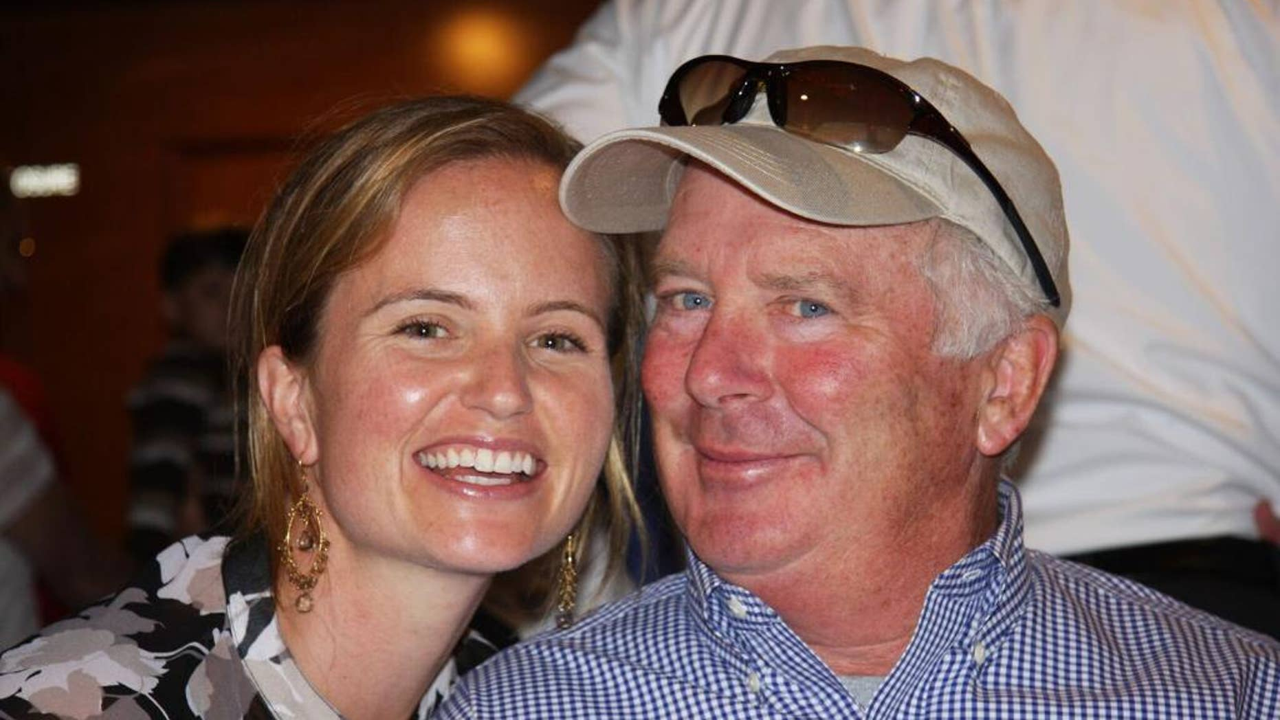"This 2009 photo provided by Caitlin Connors shows Chris Connors and his second wife, Emily. Chris Connors, who had amyotrophic lateral sclerosis, or ALS, and pancreatic cancer, died Dec. 9, 2016 at age 67, at his home surrounded by his family, in Concord, N.H. He had a wife and three children. ""The way he died is just like he lived: he wrote his own rules, he fought authority and he paved his own way,"" according to the obituary which has gone viral. (Caitlin Connors via AP)"