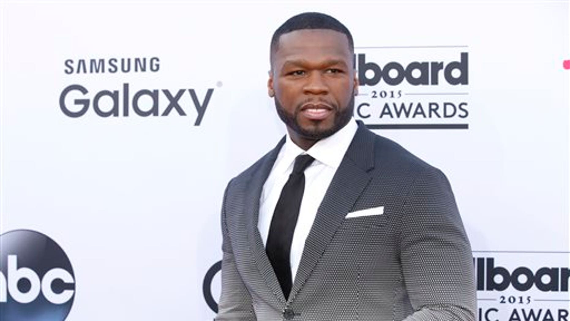 50 Cent arrives at the Billboard Music Awards at the MGM Grand Garden Arena in Las Vegas on May 17, 2015. (Photo by Eric Jamison/Invision/AP, File)