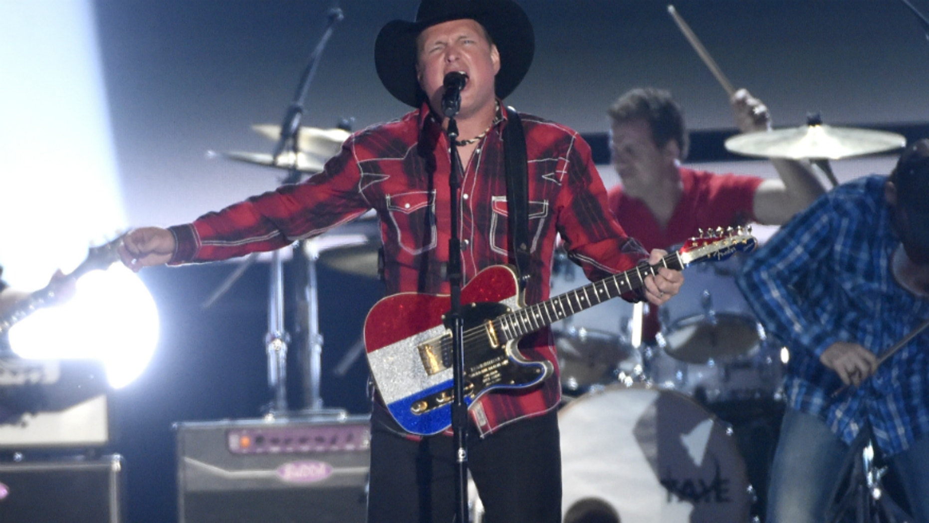 Milestone honoree Garth Brooks performs at the 50th annual Academy of Country Music Awards at AT&T Stadium on Sunday, April 19, 2015, in Arlington, Texas.