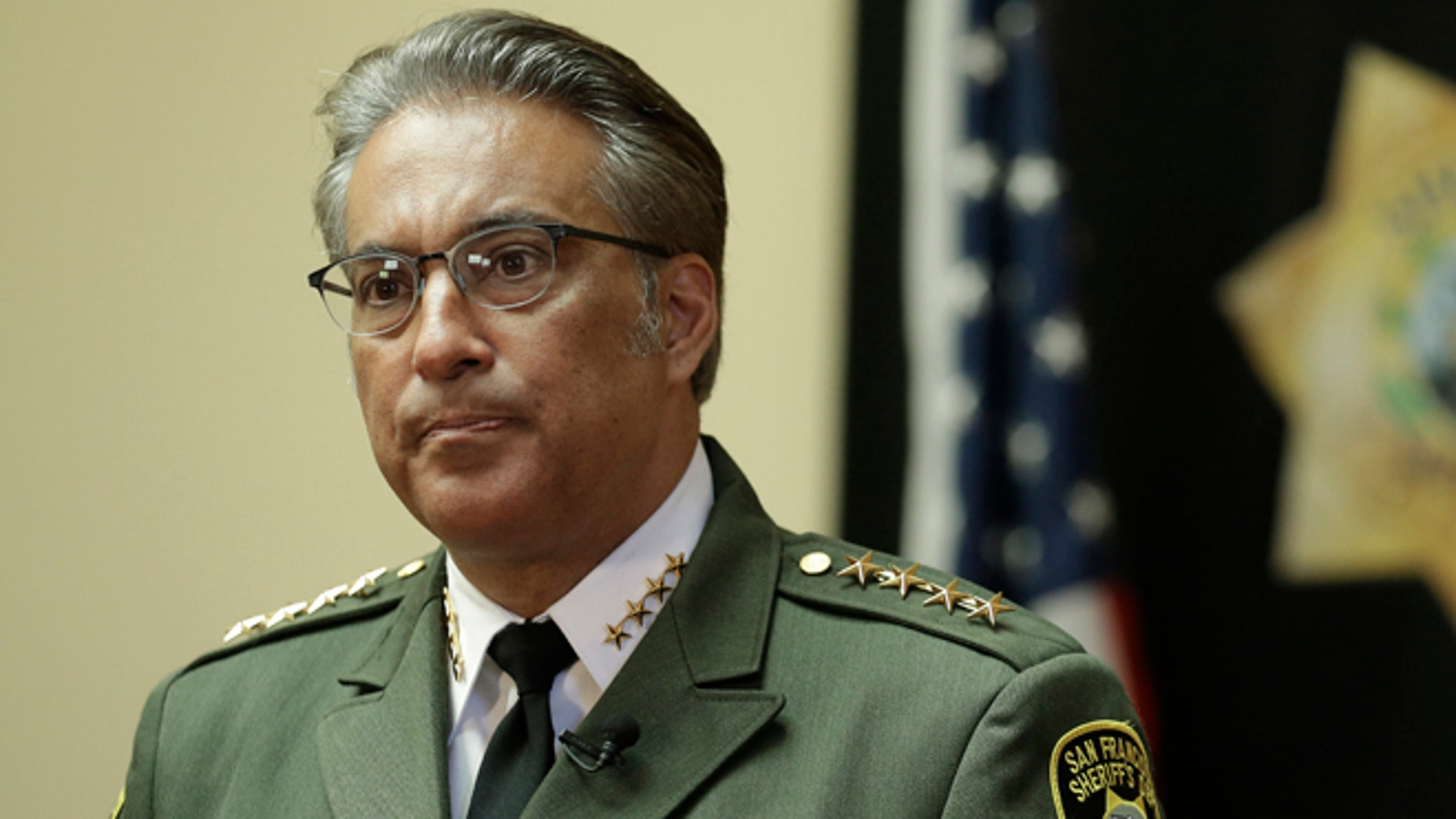 San Francisco Sheriff Ross Mirkarimi fields questions on Monday, July 6, 2015.