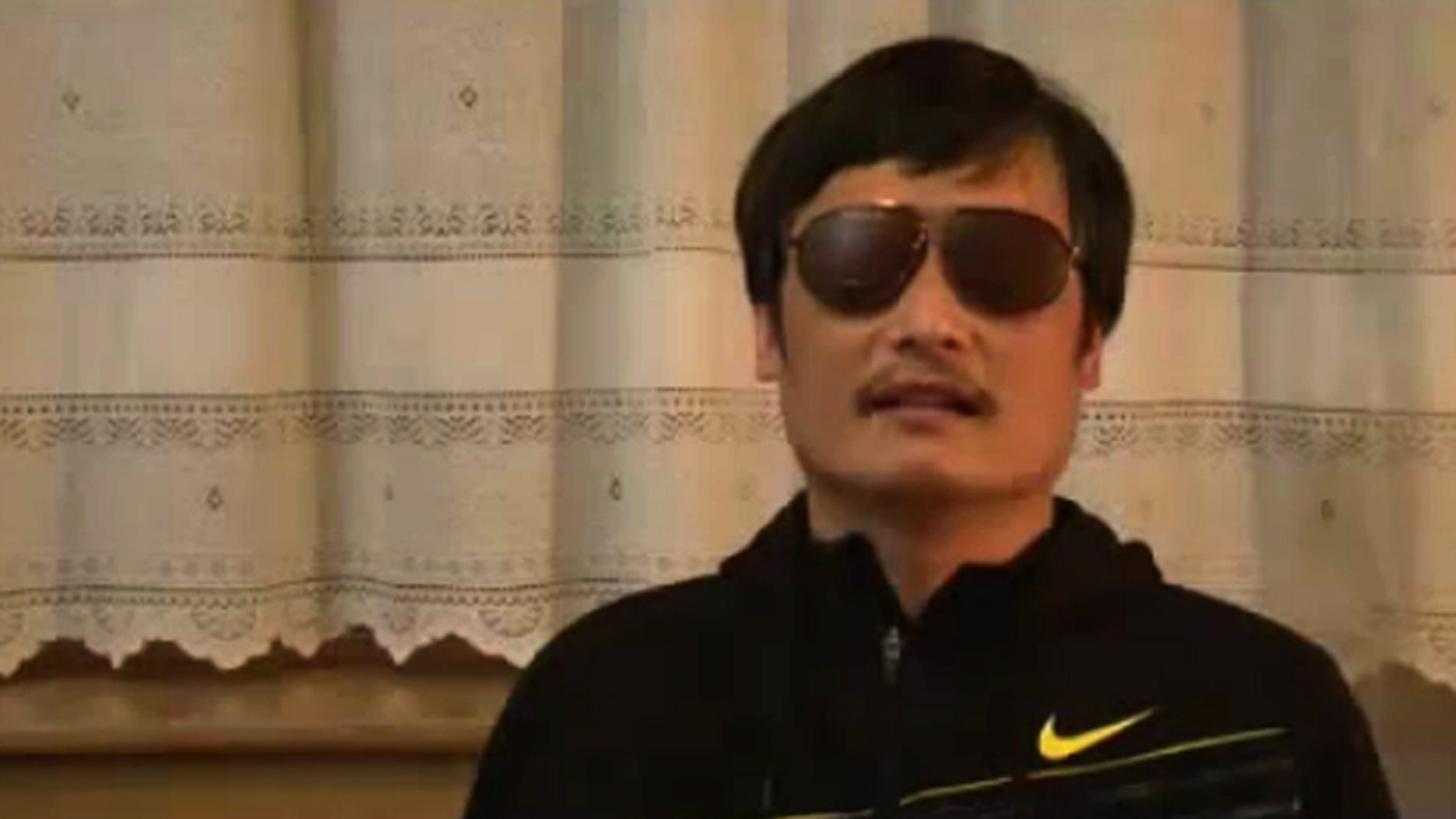 Chinese human rights activist Chen Guangcheng, in this video posted to YouTube, describes his escape from house arrest.