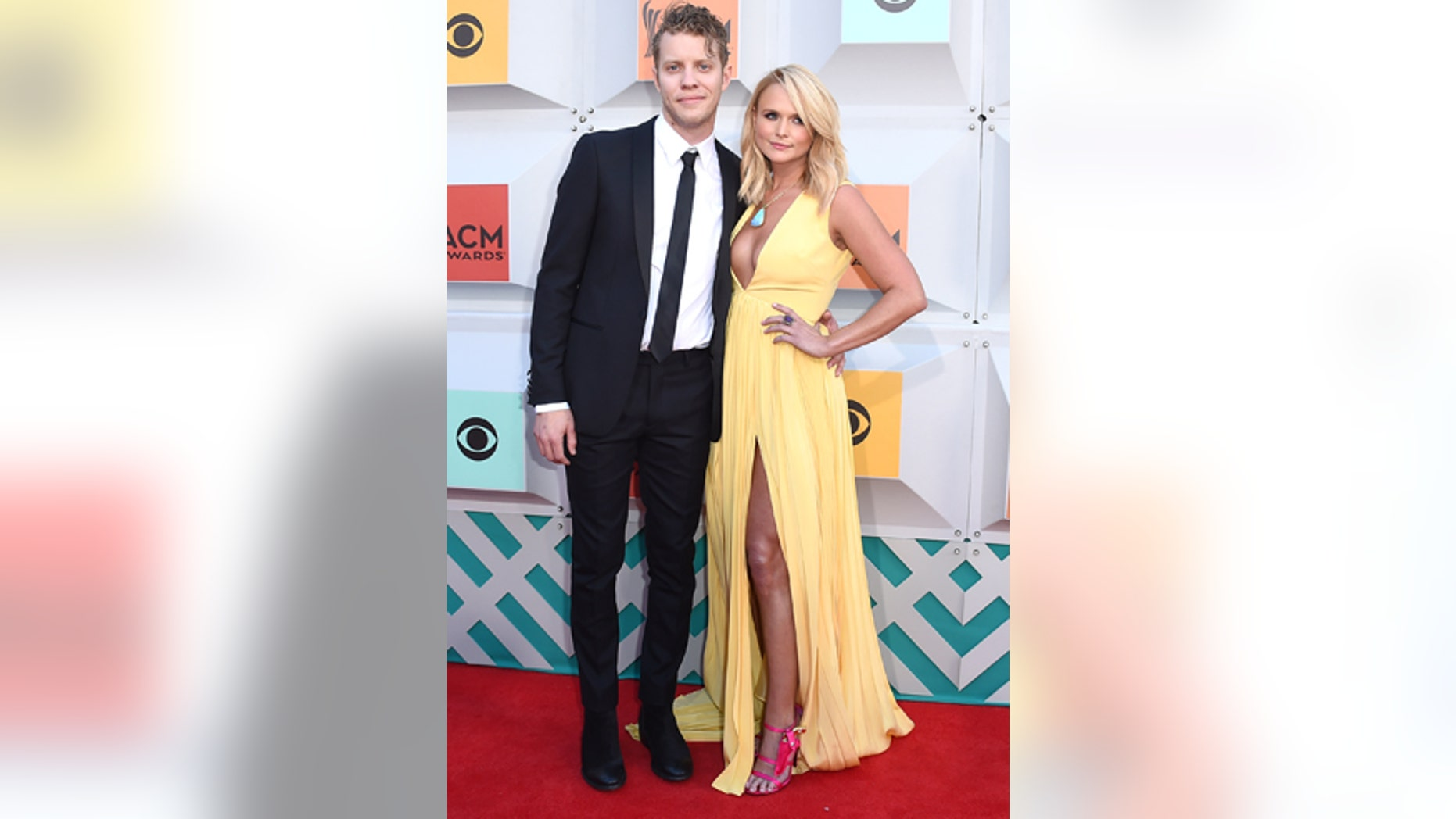 Anderson East, left, and Miranda Lambert arrive at the 51st annual Academy of Country Music Awards at the MGM Grand Garden Arena on Sunday, April 3, 2016, in Las Vegas.