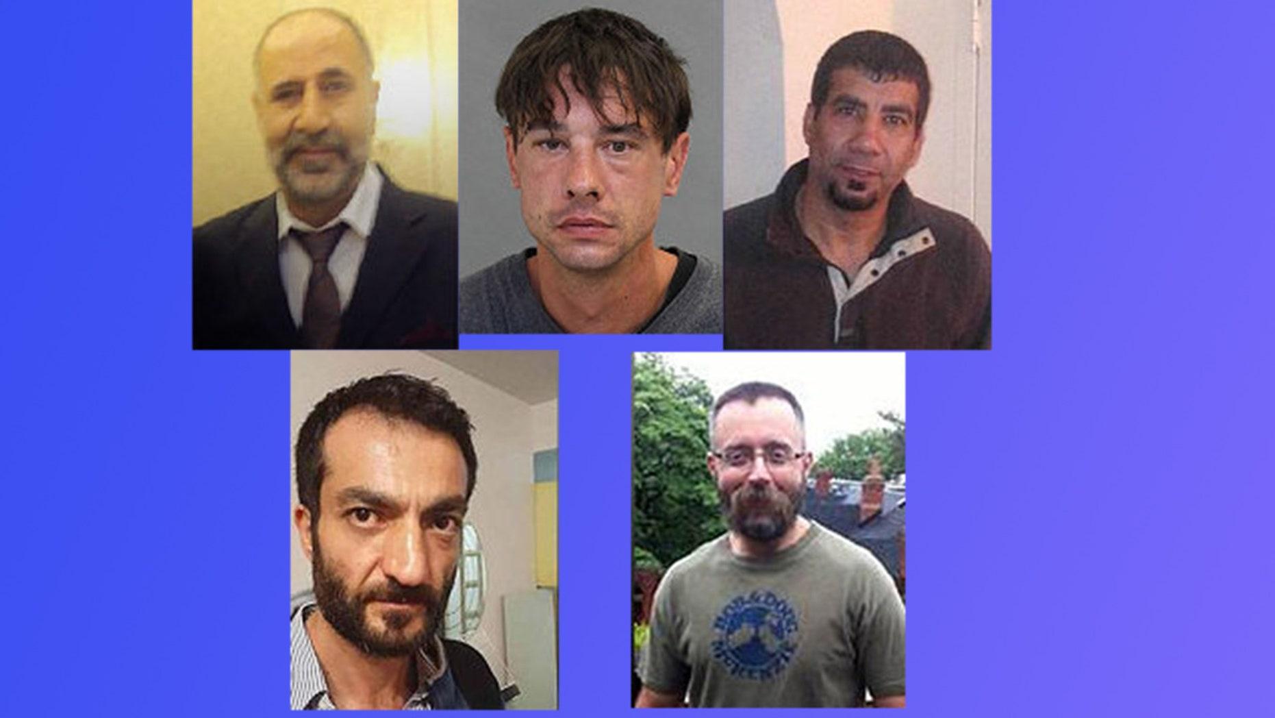 Clockwise from left: Majeed Kayhan, 58; Dean Lisowick, 47; Soroush Marmudi, 50; Selim Esen, 44 and Andrew Kinsman, 49.