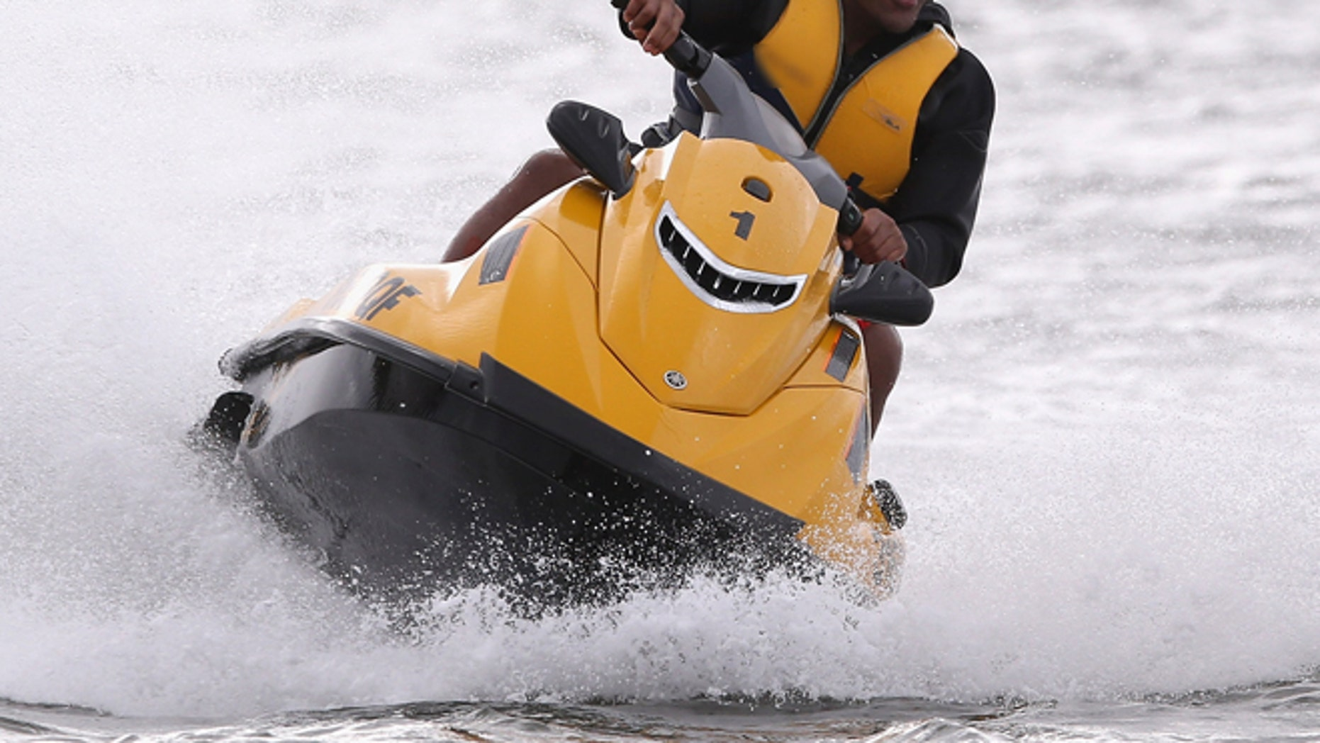 NOOSA, AUSTRALIA - JULY 01:  Mako Vunipola of the British and Irish Lions takes part in jetskiing in Noosa on July 1, 2013 in Noosa, Australia.  (Photo by David Rogers/Getty Images)