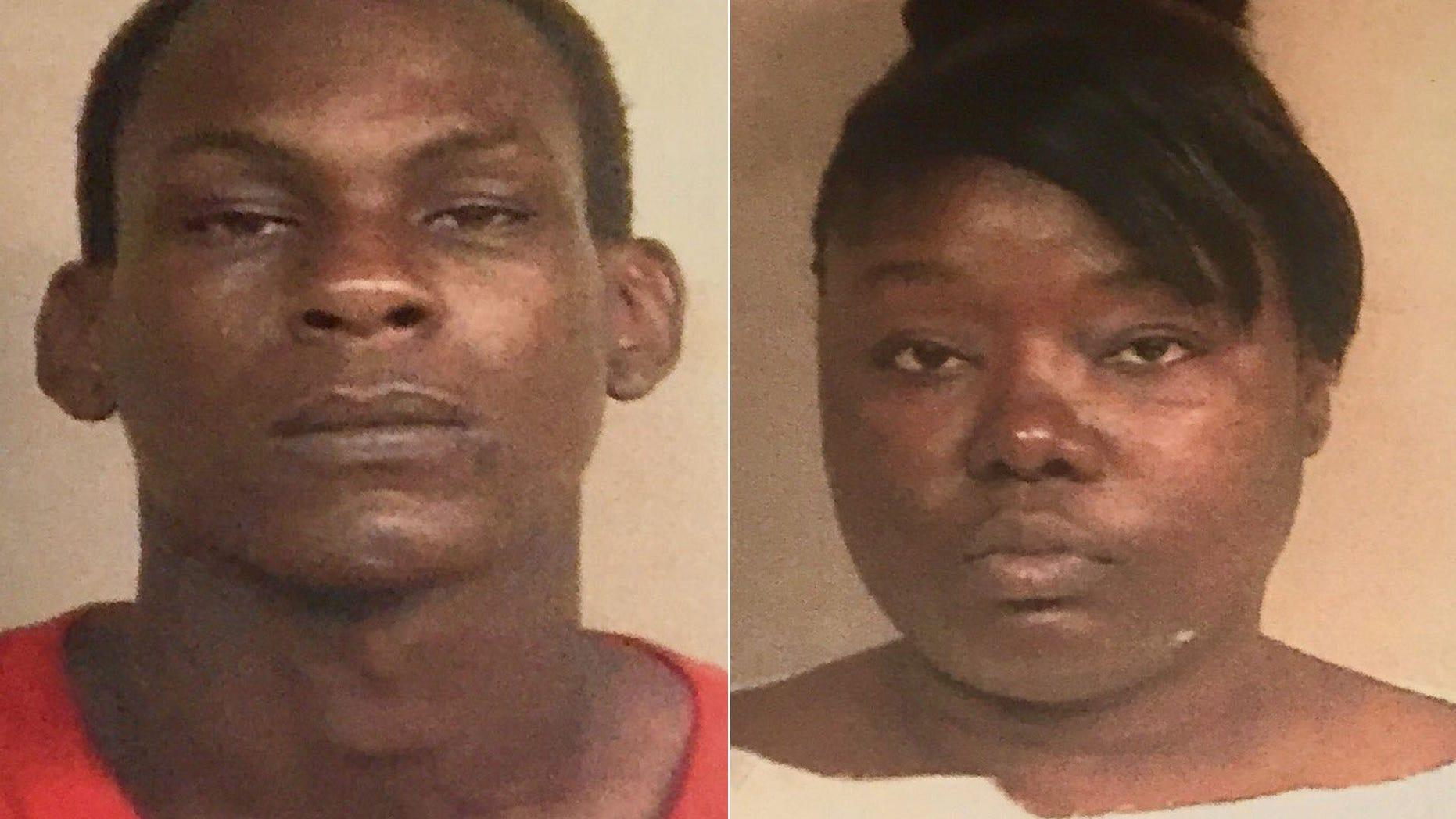 26-year-old Kendrick Jackson (left) and 35-year-old Lakia Bradley (right) have been charged with aggravated assault and shooting into an occupied vehicle.