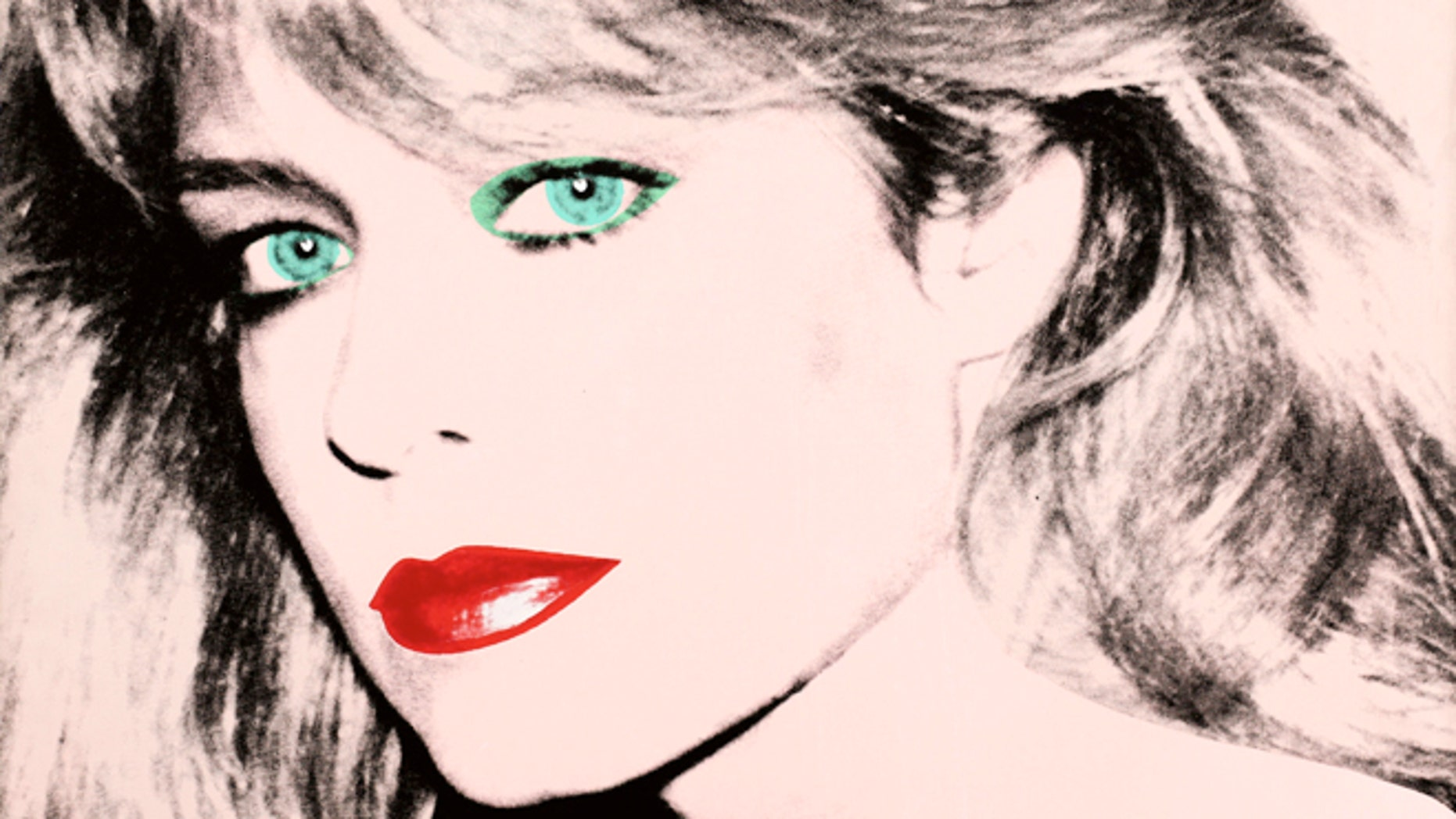 """FILE: This photo released by courtesy of the Blanton Museum of Art shows Andy Warhol's painting of """"Farrah Fawcett,"""" 1980."""