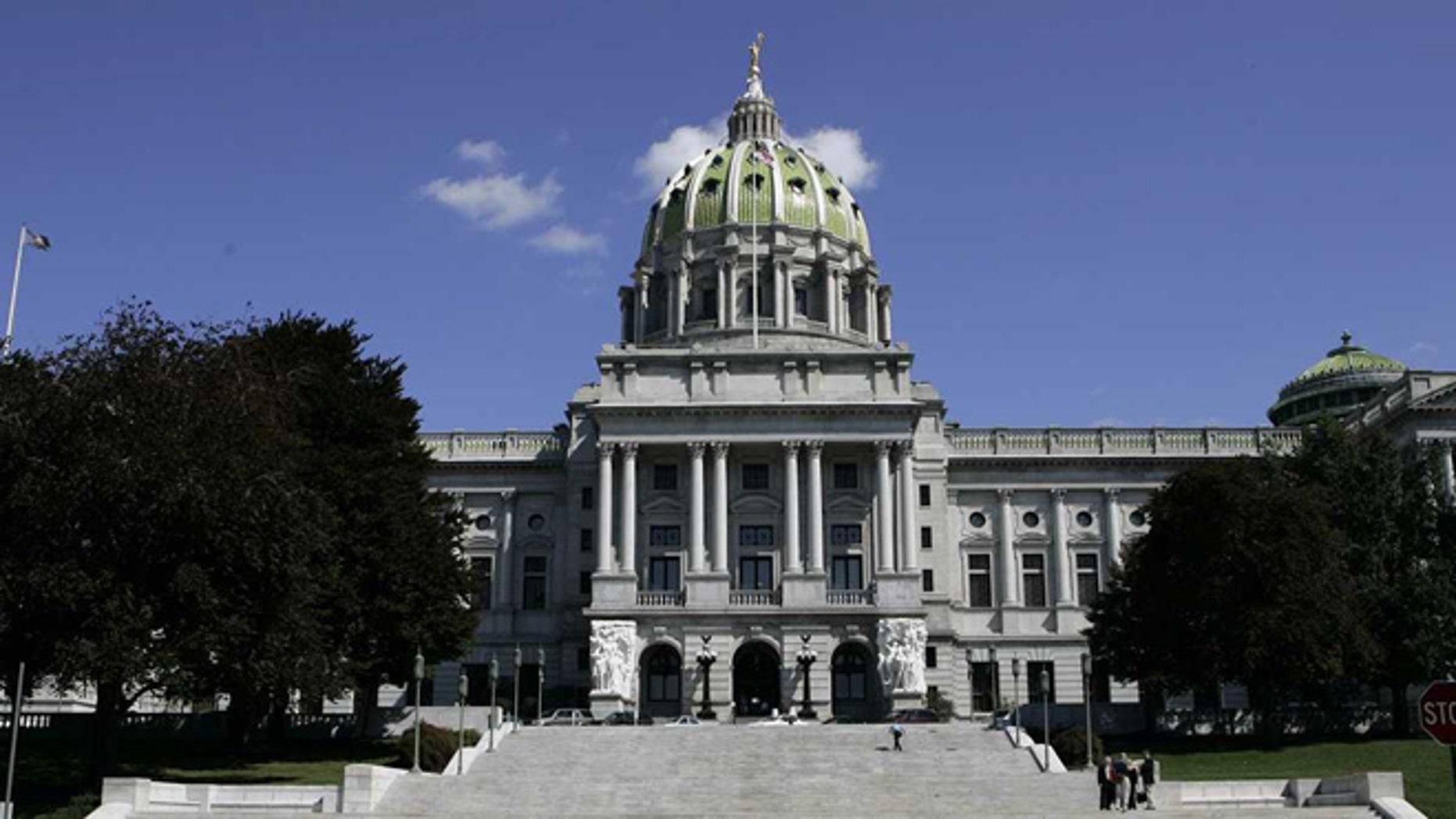 The Pennsylvania State Capitol in Harrisburg. (AP)