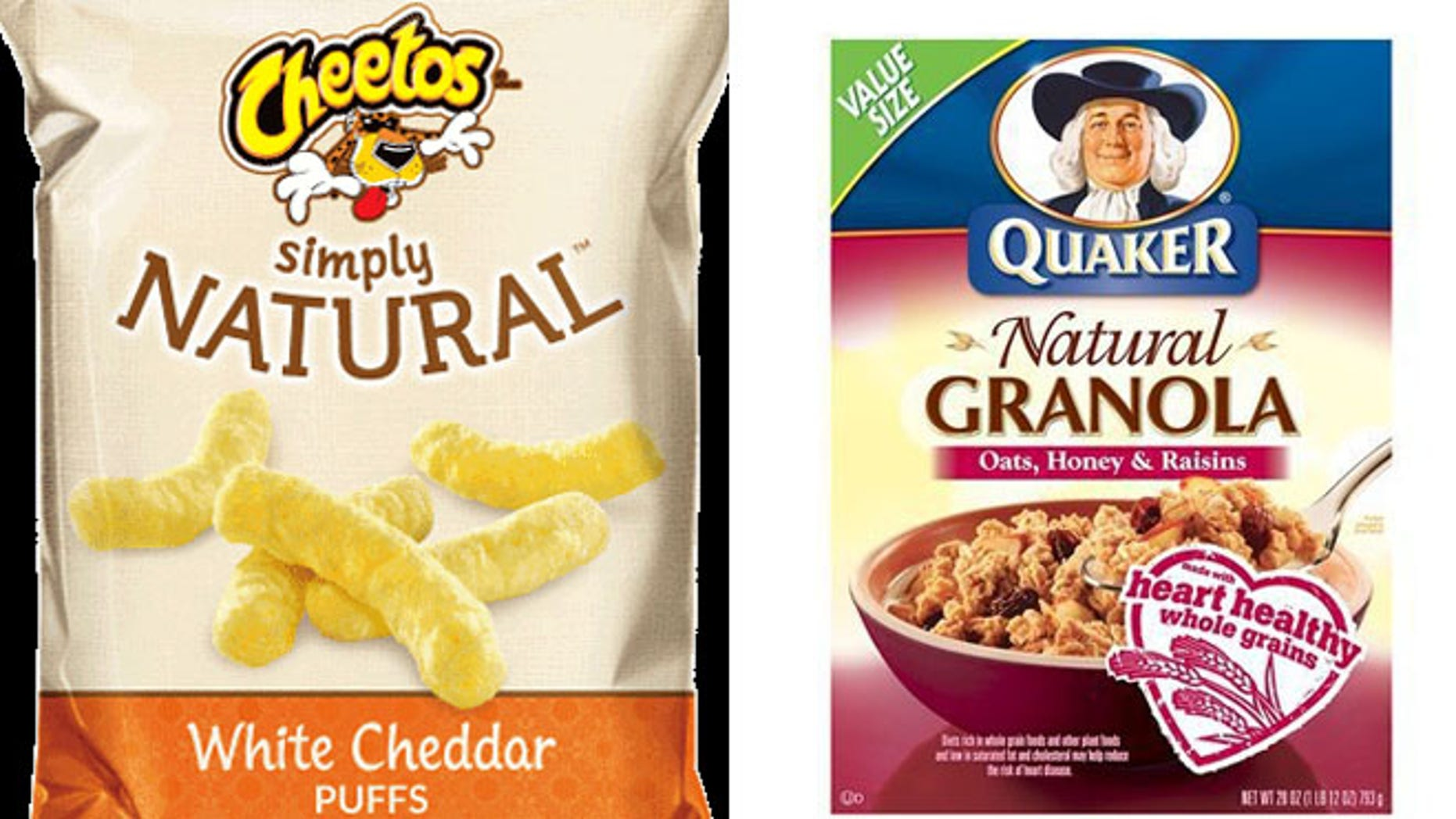 """Frito-Lay's Cheetos will simply be called """"Simply,"""" although the ingredients remain the same. Similarly, its """"Natural Quaker Granola"""" got a makeover as """"Simply Quaker Granola."""""""