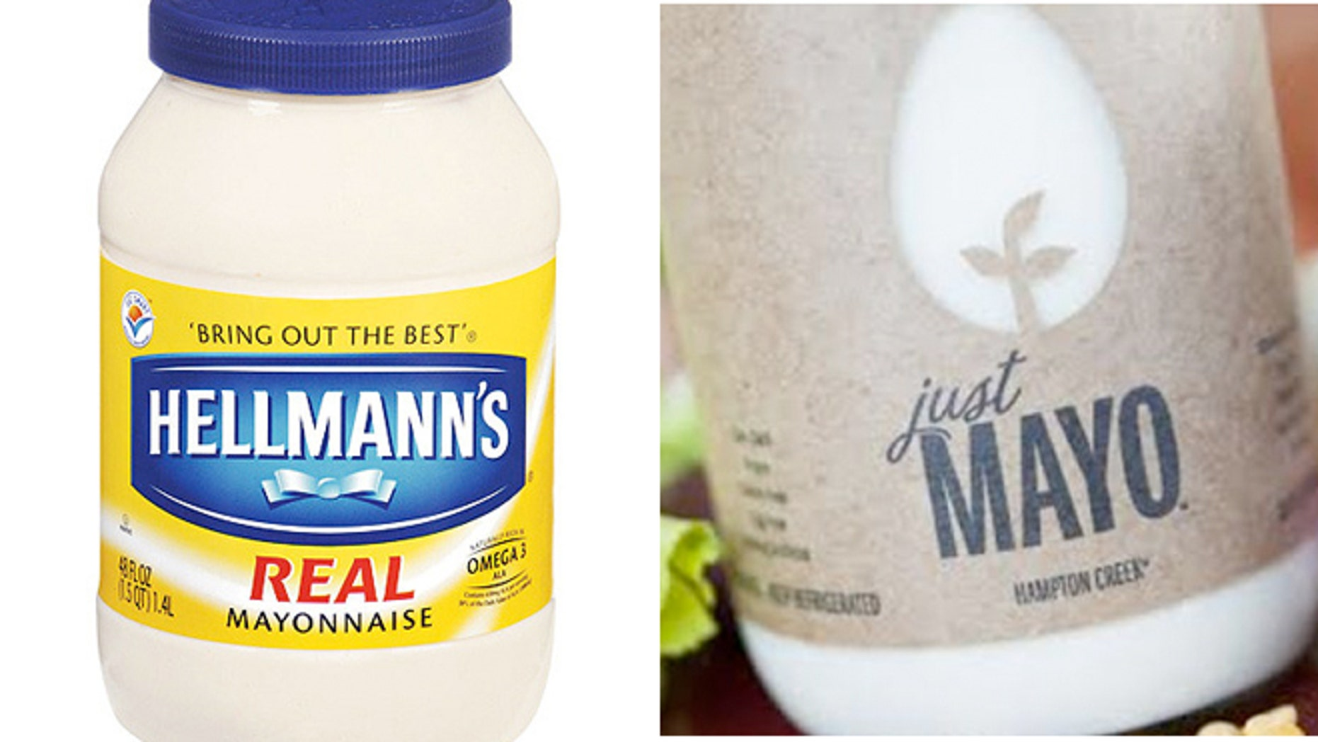 """The maker of Hellman's is suing a California company that uses the word """"Mayo"""" in its sandwich spread name, saying that federal regulators and dictionaries define mayonnaise as a spread that contains eggs."""