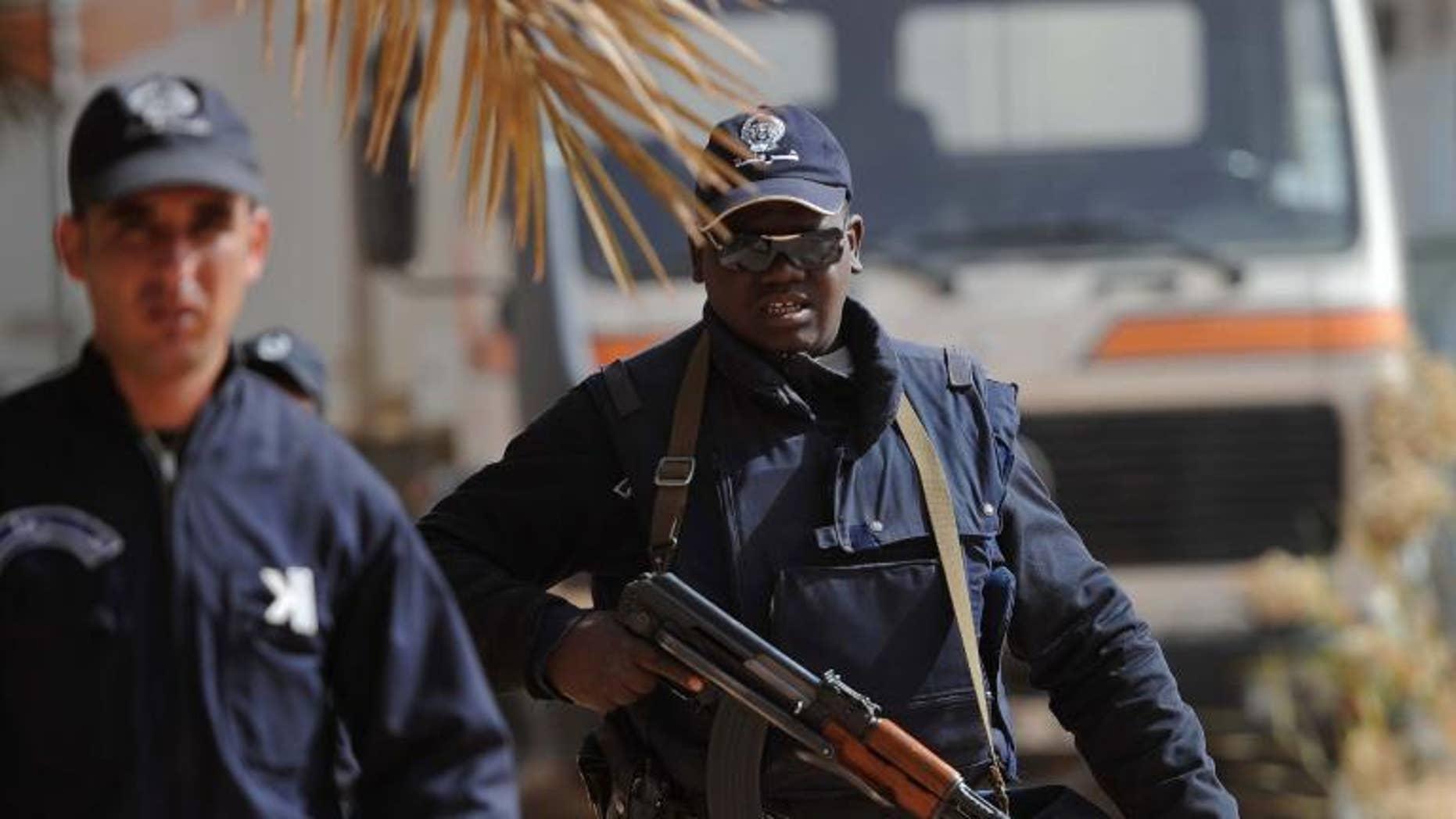 Algerian police in Amenas on January 21, 2012