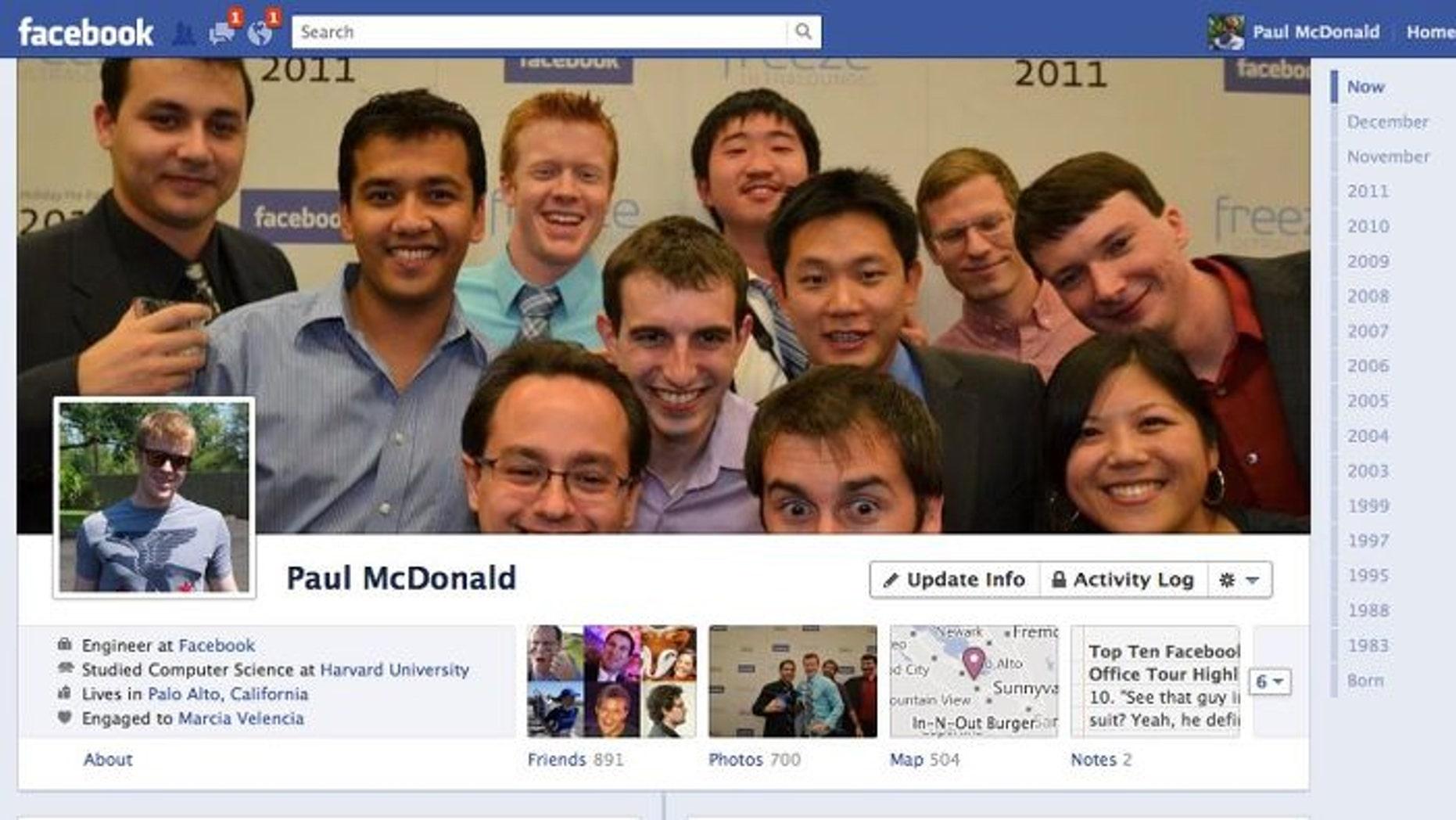 Facebook's biggest makeover to date, called Timeline, went live worldwide in September 2011.