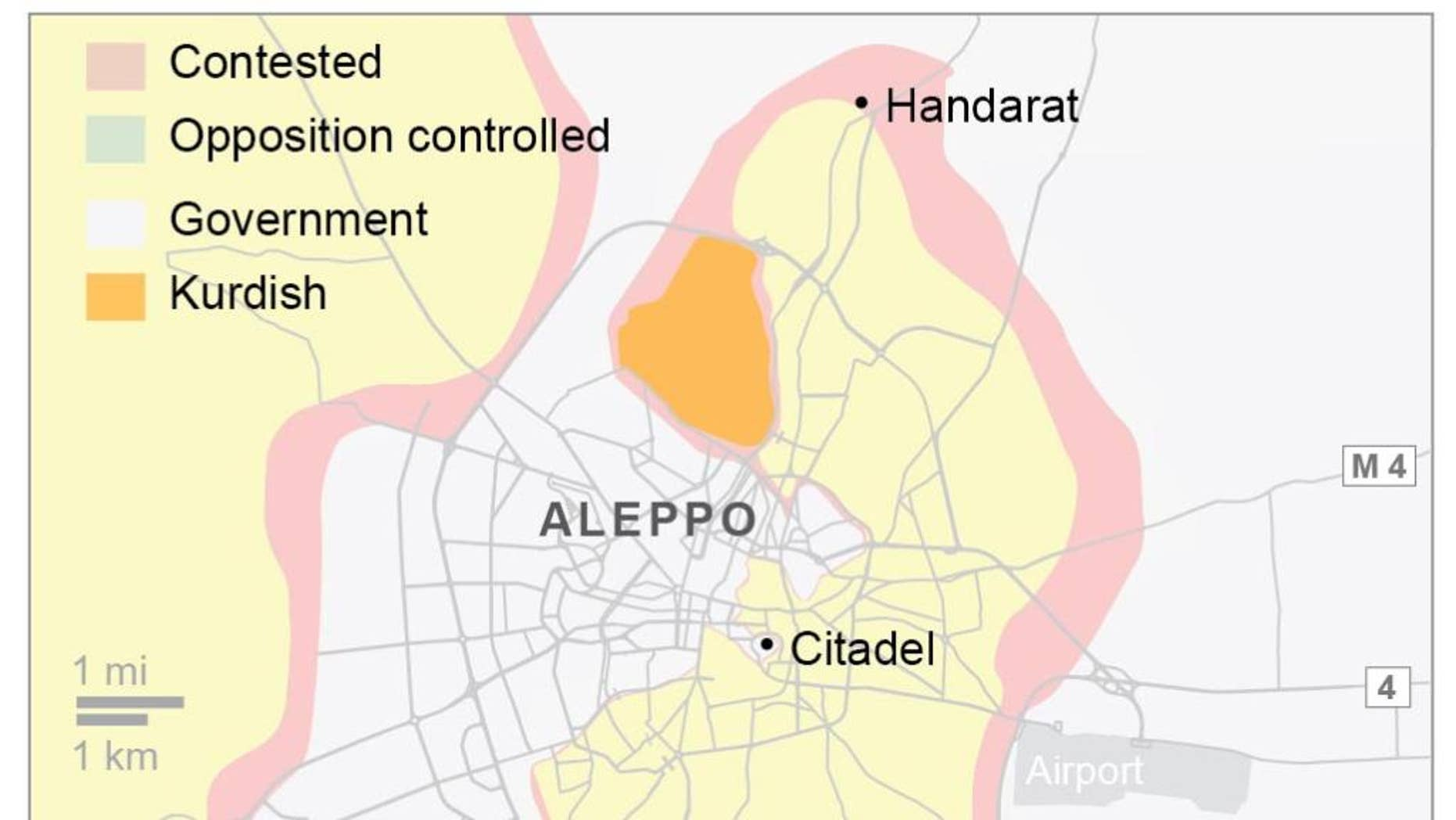 All access routes to east Aleppo are closed.