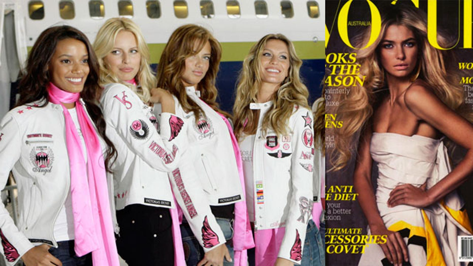 Ordinary guys don't have a chance with the Victoria's Secret angels, says model Jess Hart (far right).
