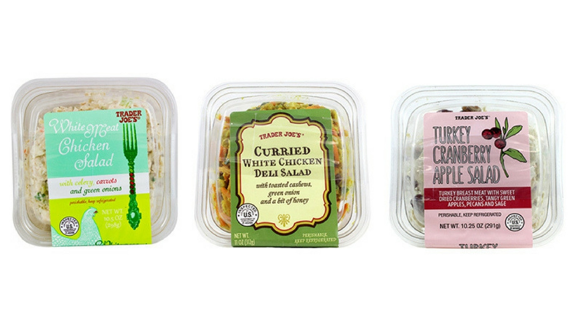 Trader Joe's recalled several pacakged salads after a supplier said there may be shards of glass or hard plastic in them.