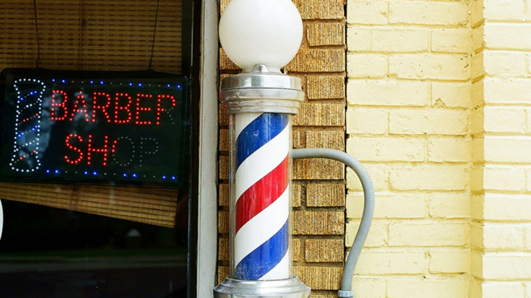 Barber Joel Nixon has a condition which makes it difficult for him to see at night and affects his peripheral vision.