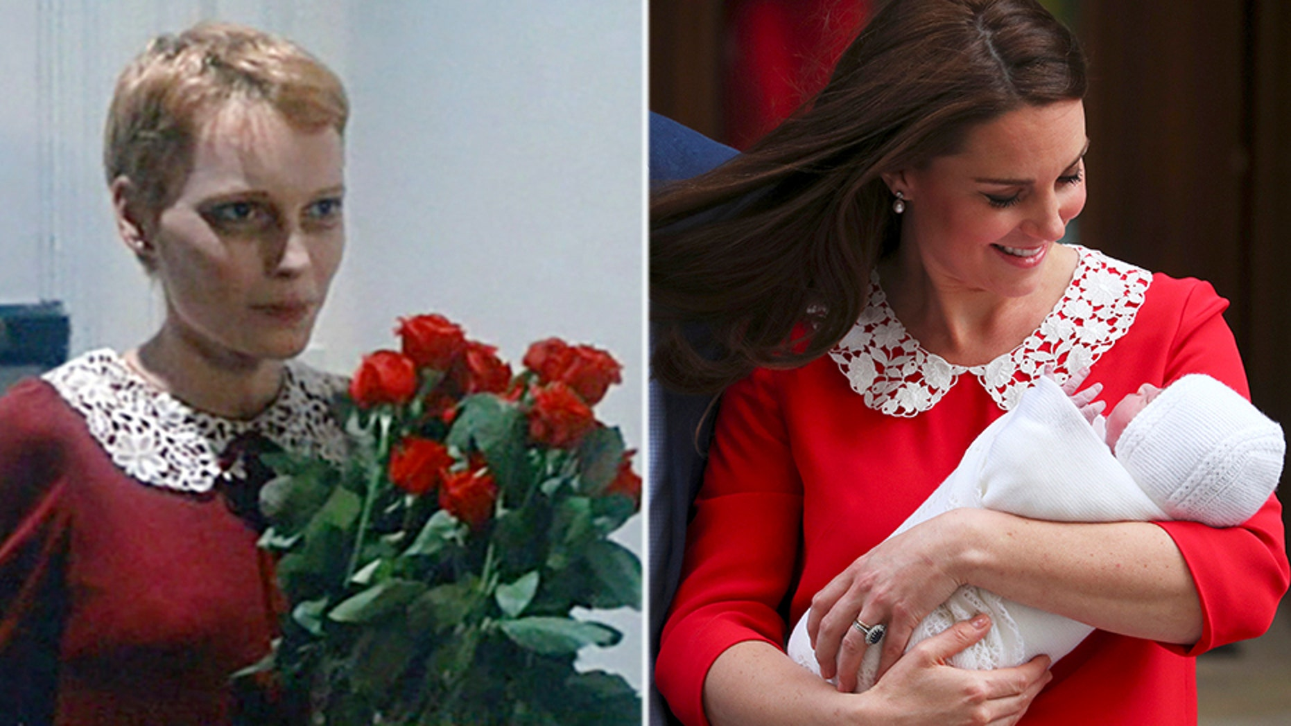 The royal mom's baby debut dress is causing quite a stir on social media.