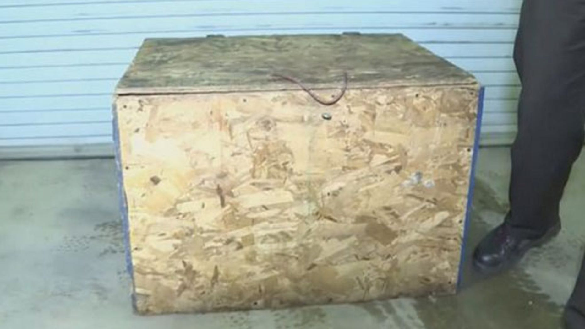 Authorities said they found a 3-year-old girl in Indiana sleeping inside a plywood box.