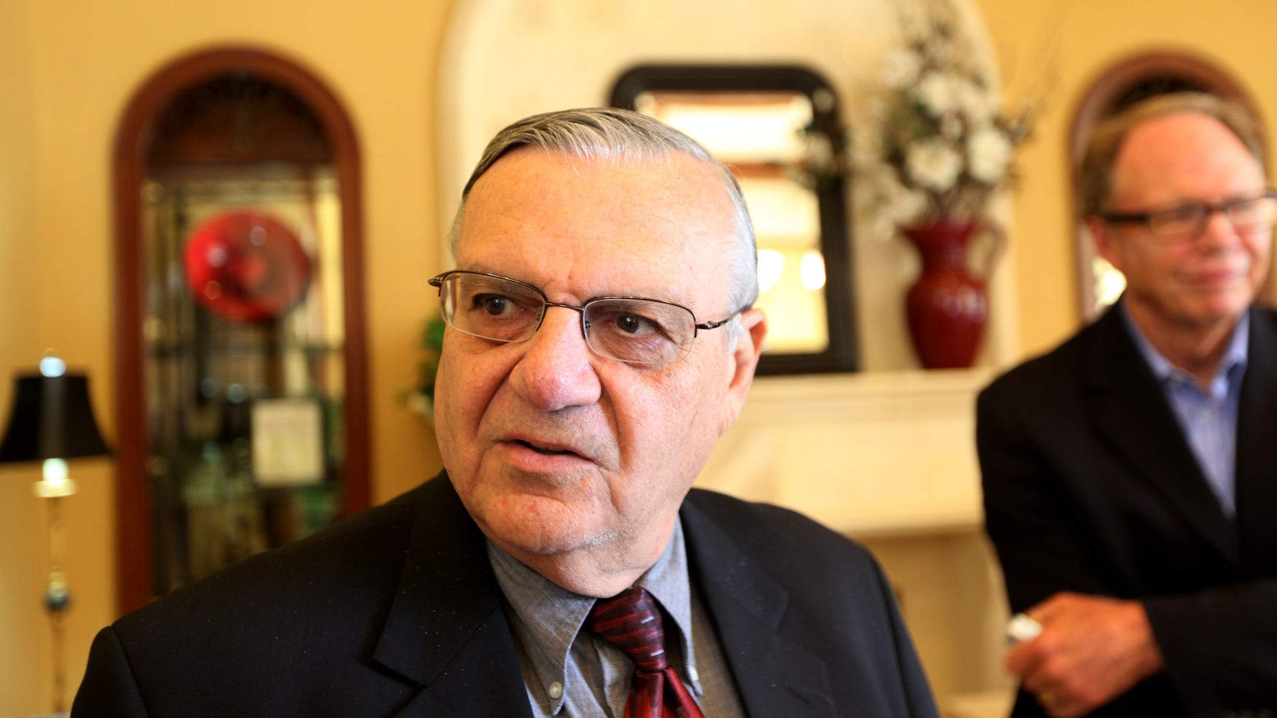 RANCHO BERNARDO, CA - AUGUST 10:  Sheriff Joe Arpaio speaks during a visit to the Rancho Bernardo Inn on August 10, 2010 in Rancho Bernardo, California.  Arpaio, who is Sheriff of Maricopa County in Arizona, gained national attention for using deputies to conduct raids to apprehend illegal immigrants and building large outdoor prison tents to house inmates.  (Photo by Sandy Huffaker/Getty Images)