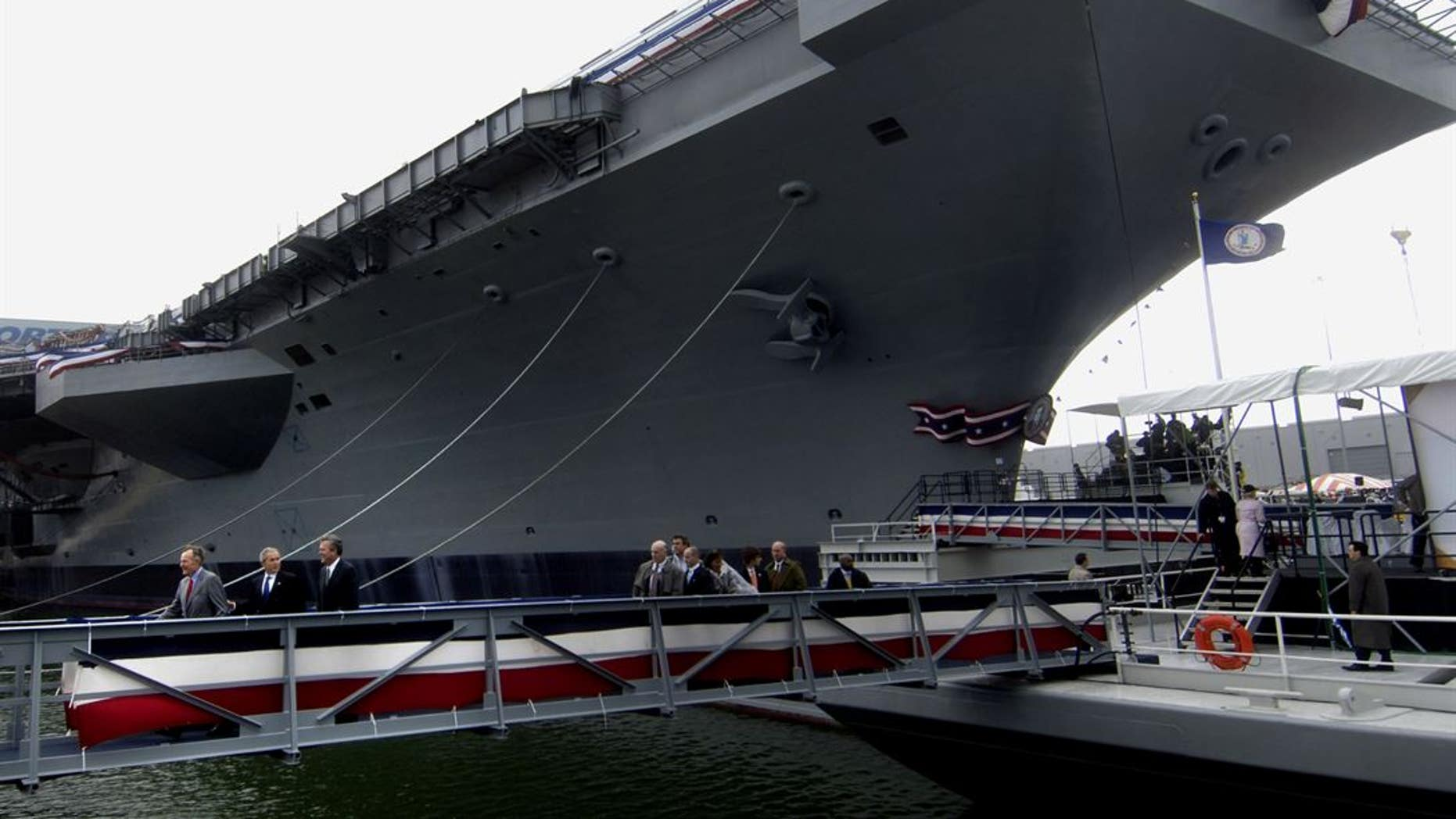 A seaman aboard the USS George H. W. Bush posted photos on his Facebook of an alleged racial slur.