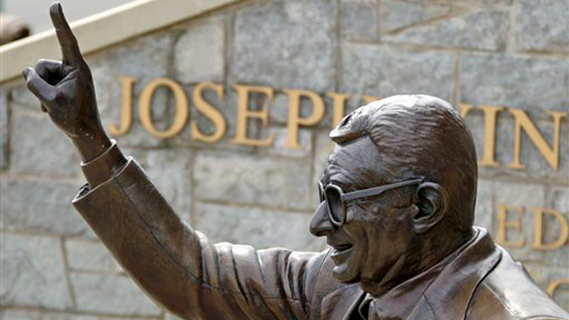 July 13, 2012: The statue of former Penn State University head football coach Joe Paterno stands outside Beaver Stadium in State College, Pa.
