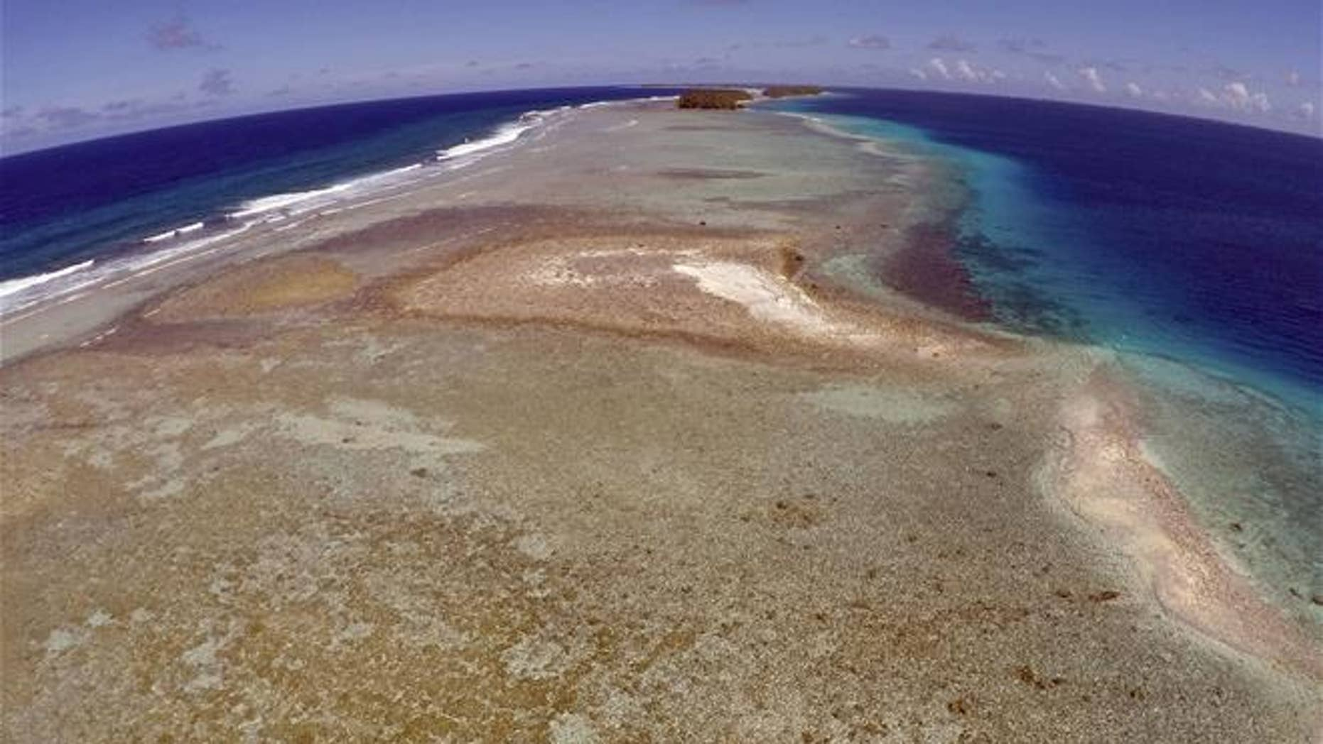 This small uninhabited island is slipping beneath the ocean in the Marshall Islands.