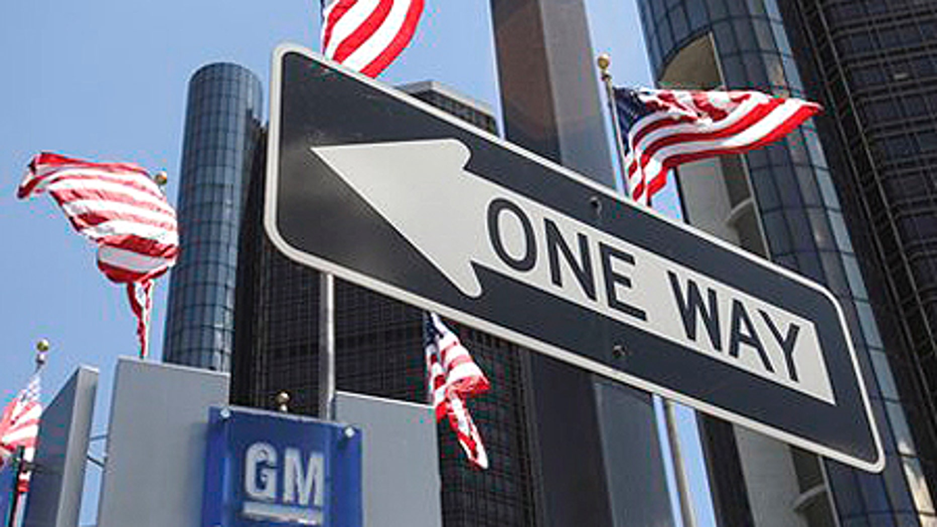 July 9: The General Motors headquarters is seen in Detroit.