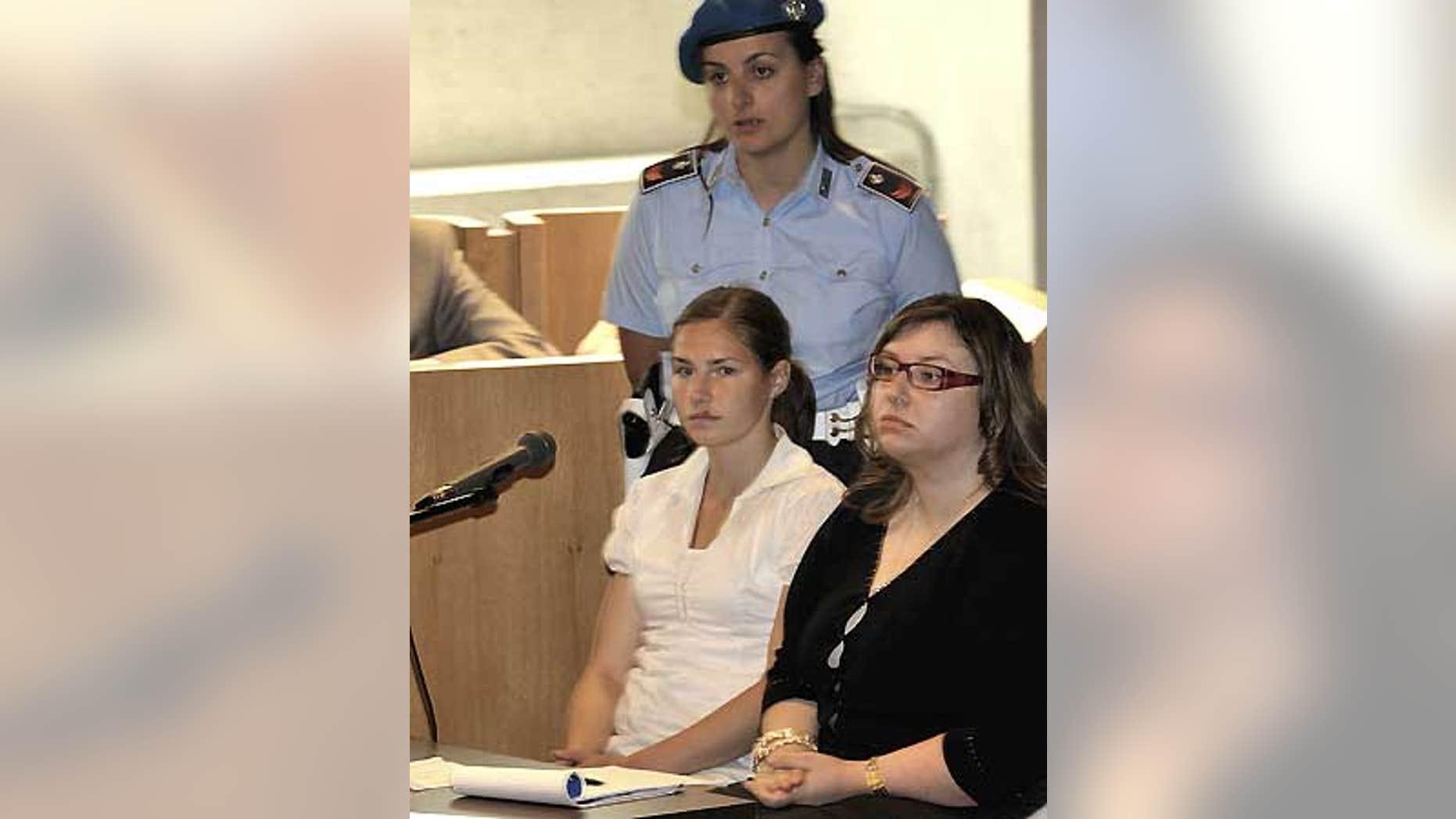 June 12: Amanda Knox testifies during a hearing in the Meredith Kercher murder trial, in Perugia, Italy.