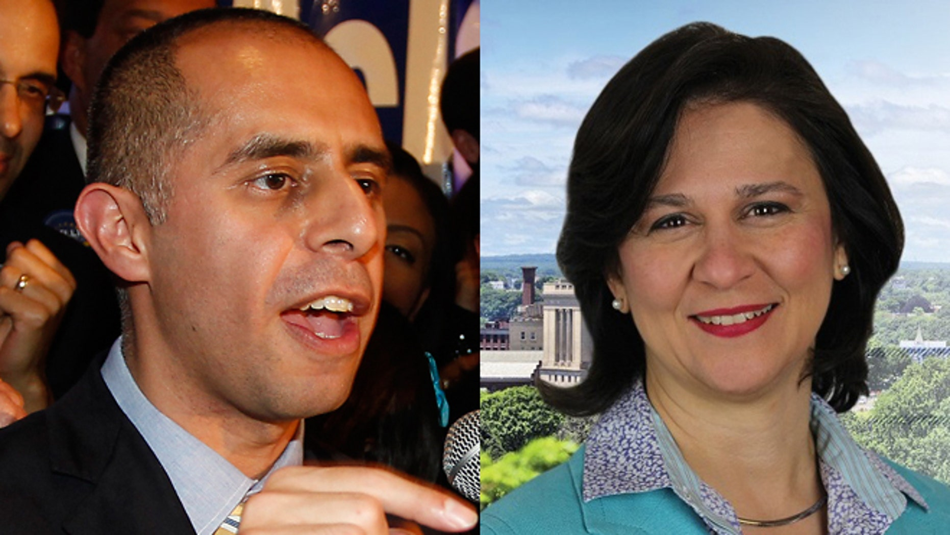 Left: Democrat Jorge Elorza celebrates his win over Independent Vincent Cianci, Jr. in the Providence mayoral race, Tuesday, Nov. 4, 2014, in Providence, R.I.. (AP Photo/Stew Milne) Right: Nellie Gorbea (Photo: Gorbea campaign website)