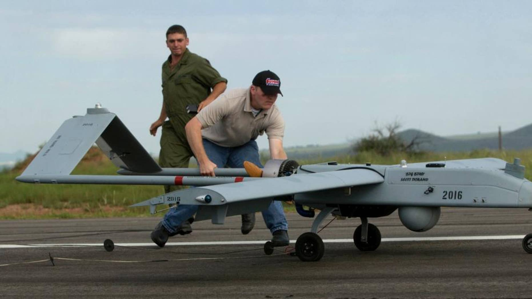 A Shadow drone at Fort Huachuca in 2005.