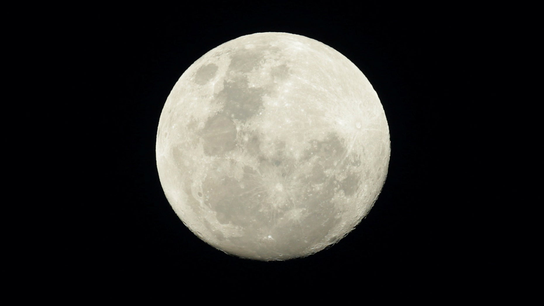 """The full moon is seen in the night sky above Sydney, Australia, November 13, 2016, on the eve of the """"supermoon"""" spectacle. Picture taken November 13, 2016. (REUTERS/Jason Reed)"""