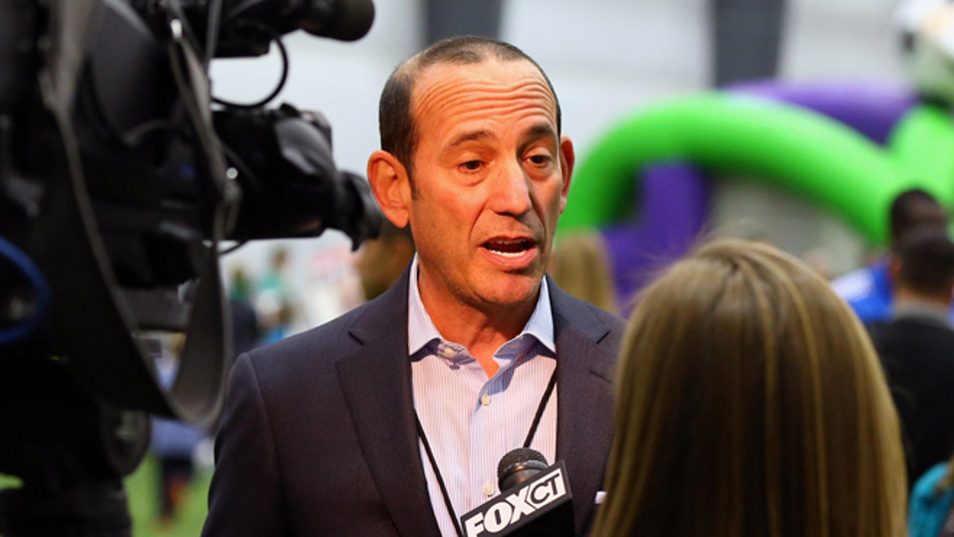 MLS Commissioner Don Garber on a January 2013 file photo.