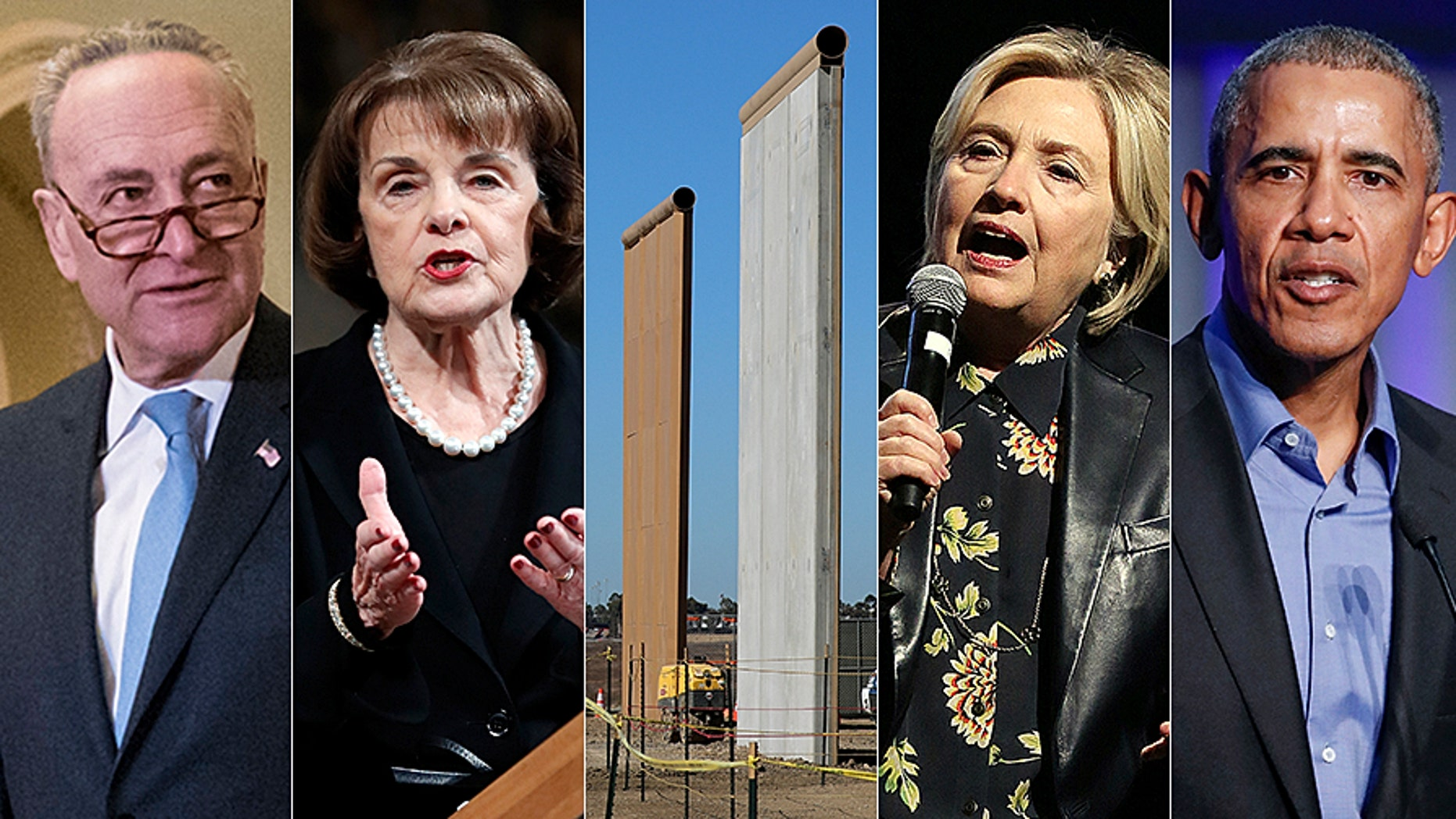 During their time in the Senate, Hillary Clinton and Barack Obama voted in favor of a physical border barrier. And just five years ago, all Senate Democrats, including Senate Minority Leader Chuck Schumer and Dianne Feinstein, voted in favor of 700 miles of border fencing.