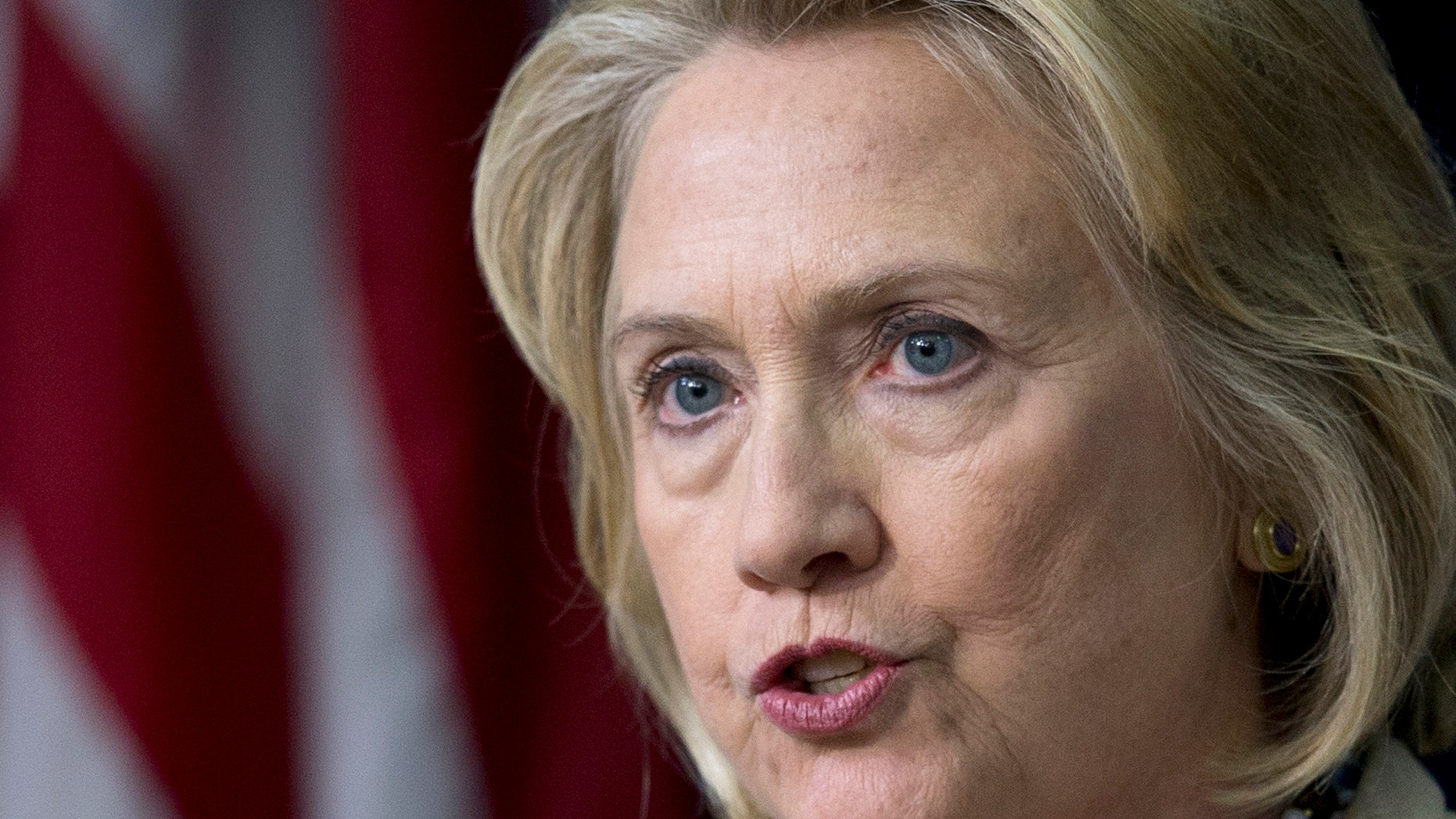Sept. 9, 2013: Hillary Clinton speaks to reporters at the White House.