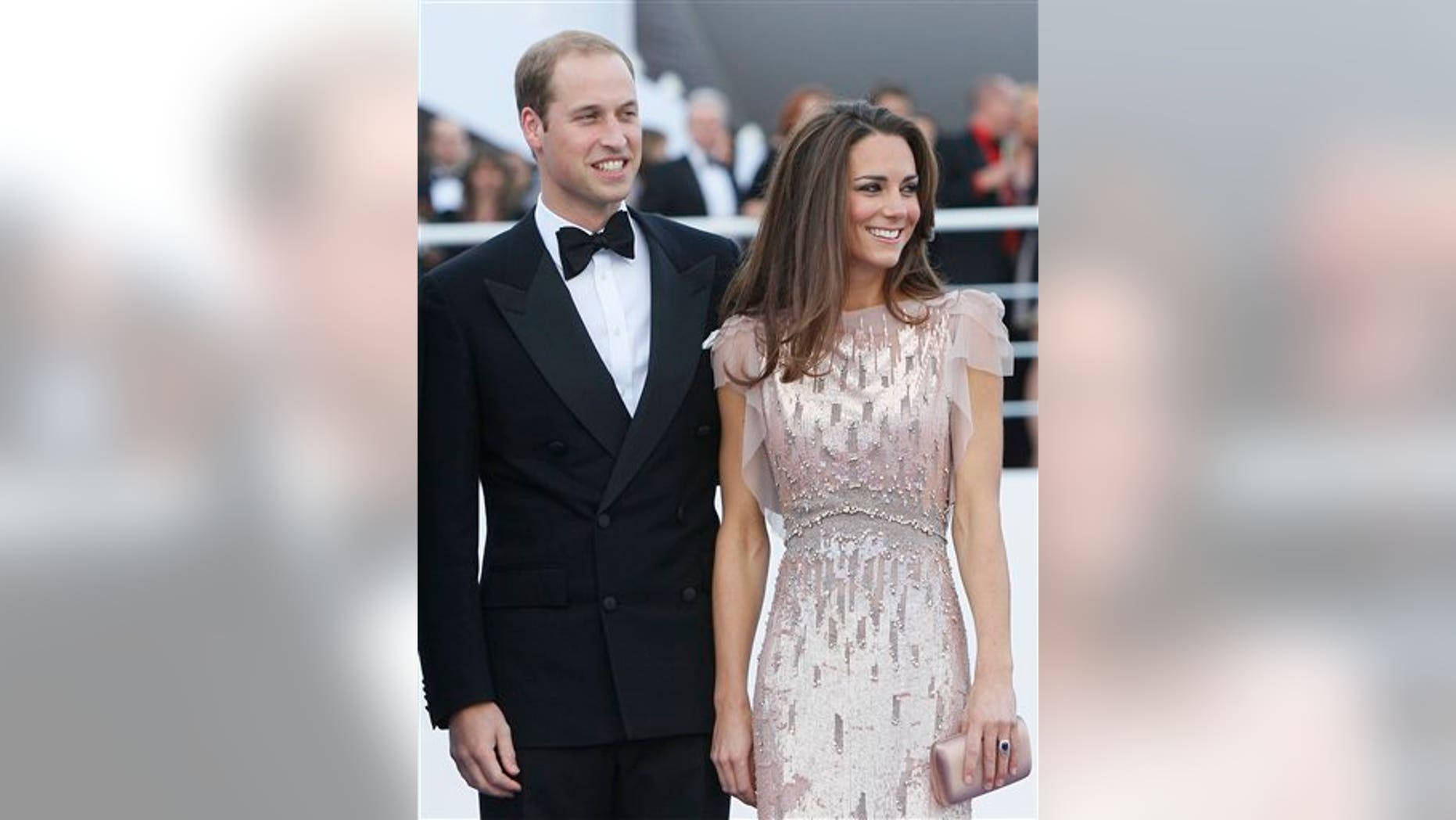 Britain's Prince William, the Duke of Cambridge,  and his wife Kate, Duchess of Cambridge arrive at a charity event for Absolute Return for Kids, ARK, in central London, Thursday, June, 9, 2011. The charity event is the first official engagement for the couple since they were married on April 29.(AP Photo/Alastair Grant)