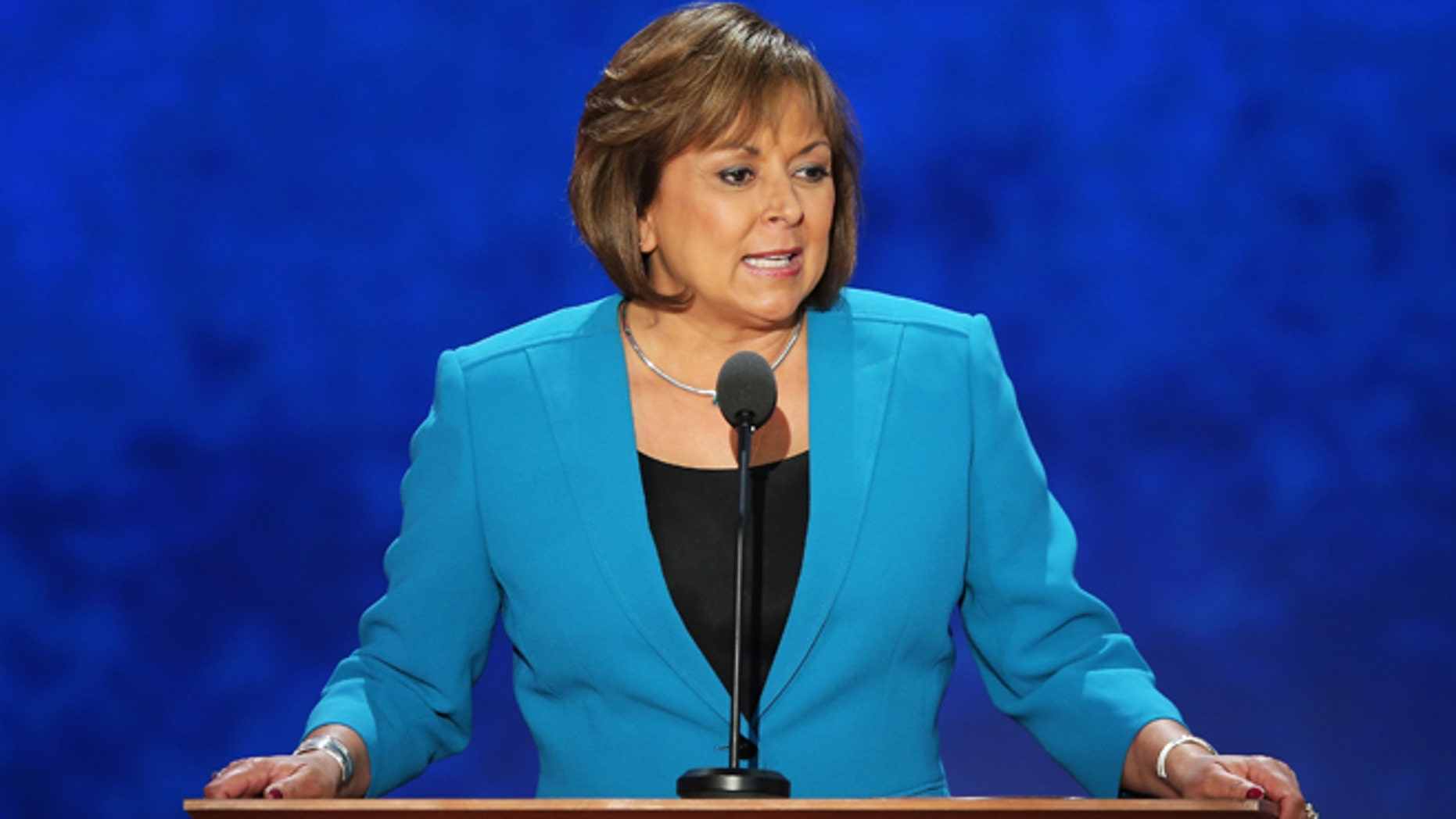 TAMPA, FL - AUGUST 29:  New Mexico Gov. Susana Martinez speaks during the third day of the Republican National Convention at the Tampa Bay Times Forum on August 29, 2012 in Tampa, Florida. Former Massachusetts Gov. Former Massachusetts Gov. Mitt Romney was nominated as the Republican presidential candidate during the RNC, which is scheduled to conclude August 30.  (Photo by Mark Wilson/Getty Images)