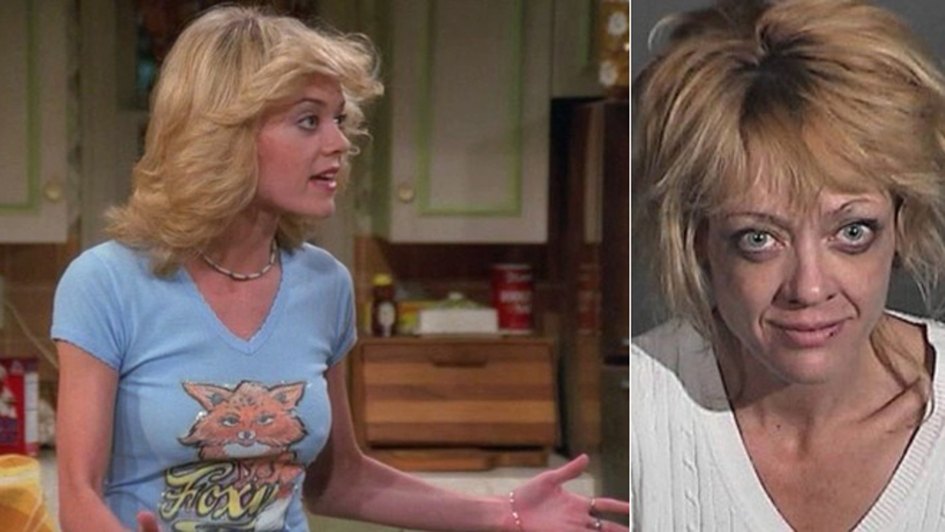 """Lisa Robin Kelly on """"That 70s Show"""" and after an arrest in 2012. She died in her sleep in a rehab facility at age 43."""