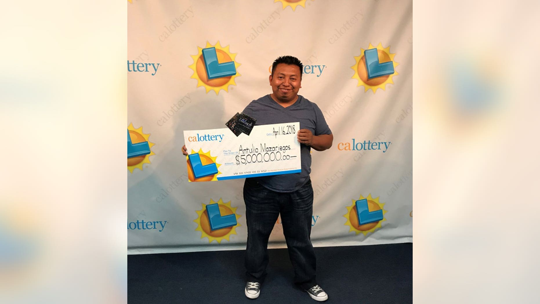 Antulio Mazariegos won four lottery prizes, including one worth $5 million, within six months.