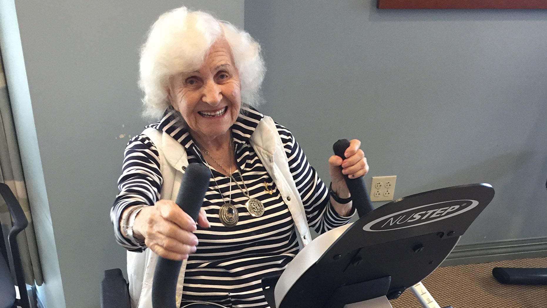 Regina Zlotnik was all smiles for her birthday workout.