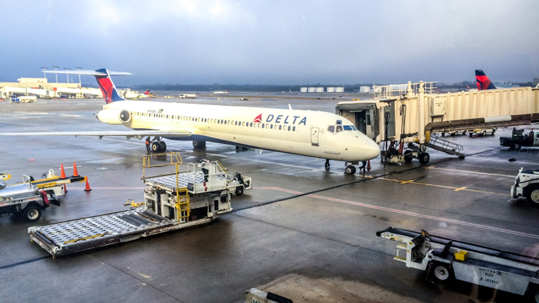 Delta Air Lines delayed a flight after e-cigarette ignited a passenger's backpack.