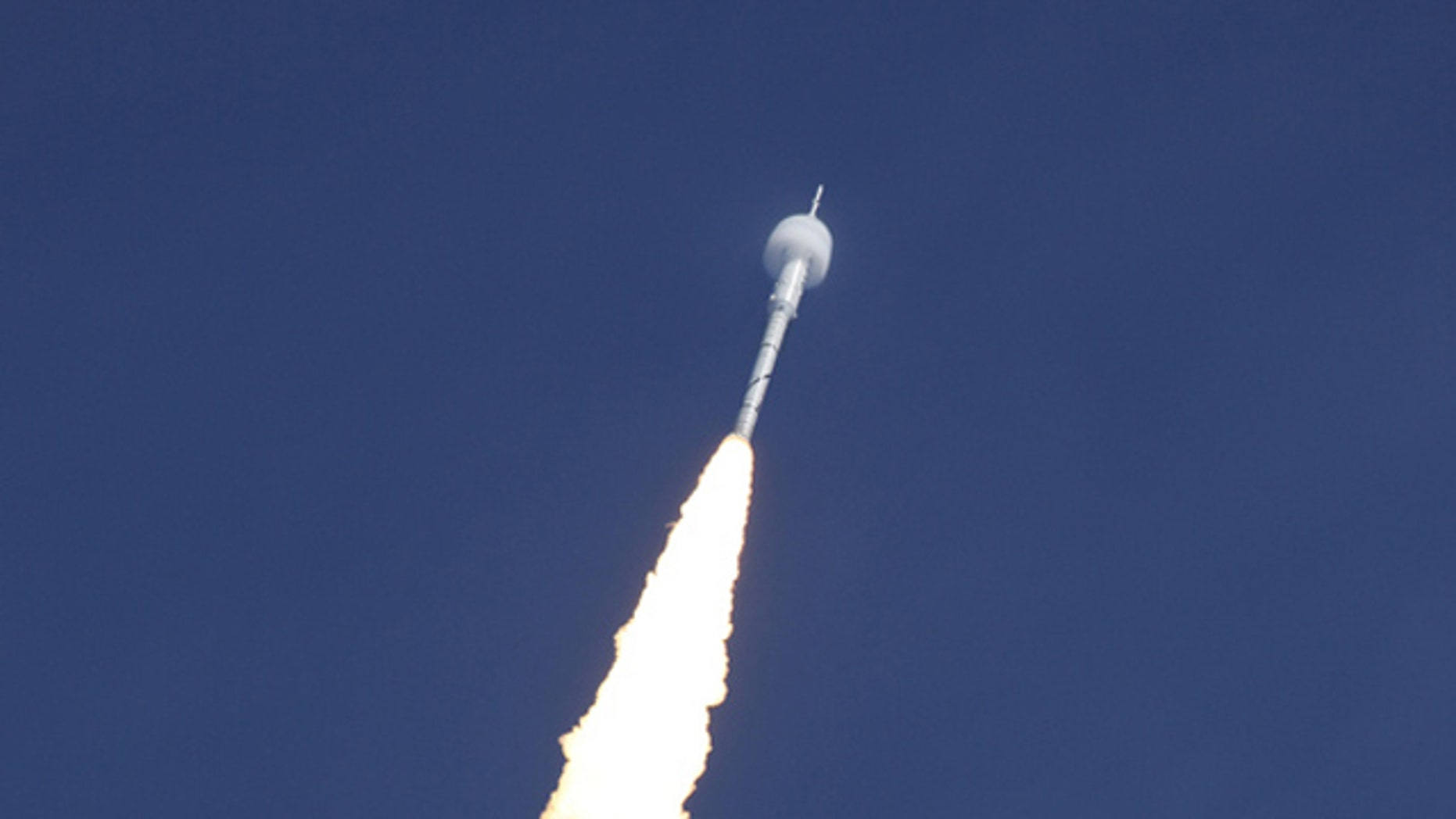 A bow shock forms around the Ares I-X test rocket traveling at supersonic speed during its Oct. 28, 2009 launch from the Kennedy Space Center, Fla.